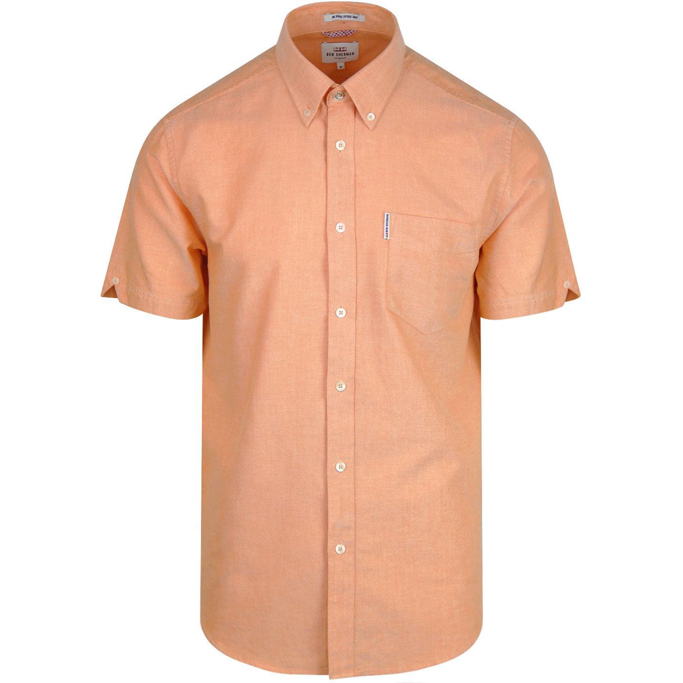 BEN SHERMAN Mod Button Down Oxford Shirt (Orange)