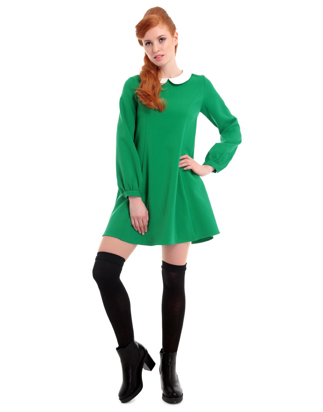 Nia BRIGHT & BEAUTIFUL 1960s Mod Long Sleeve Dress