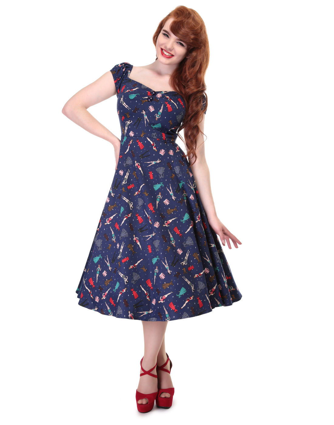 Dolores COLLECTIF 1950s Vintage Pin Up Doll Dress