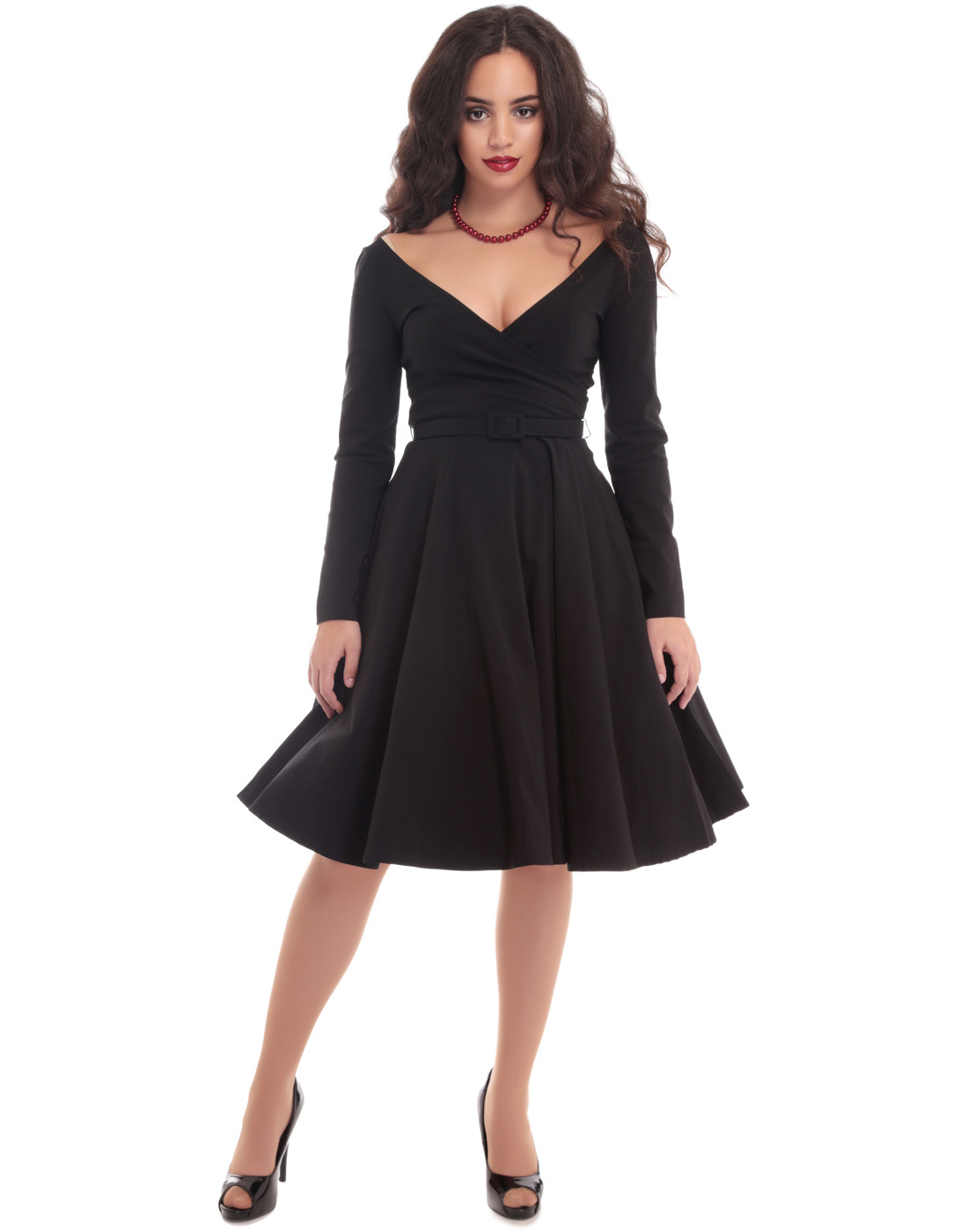 Creative Dresses Sweet Ball Gown Women Flower Dress Black Party Dresses Retro