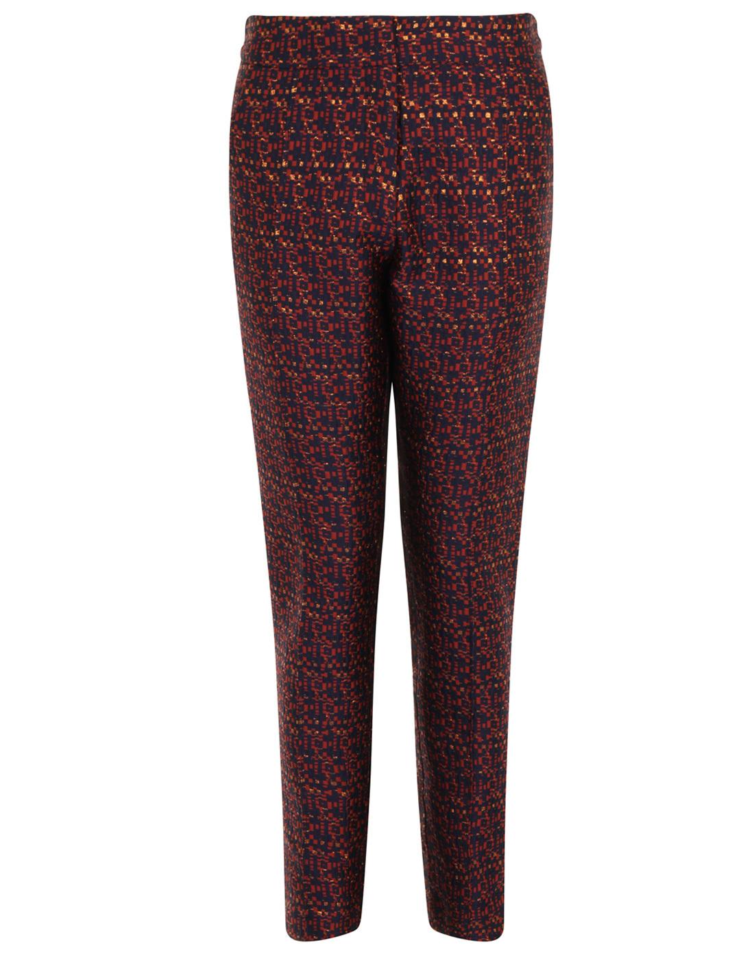 Lorraine DARLING Retro Metallic Textured Trousers
