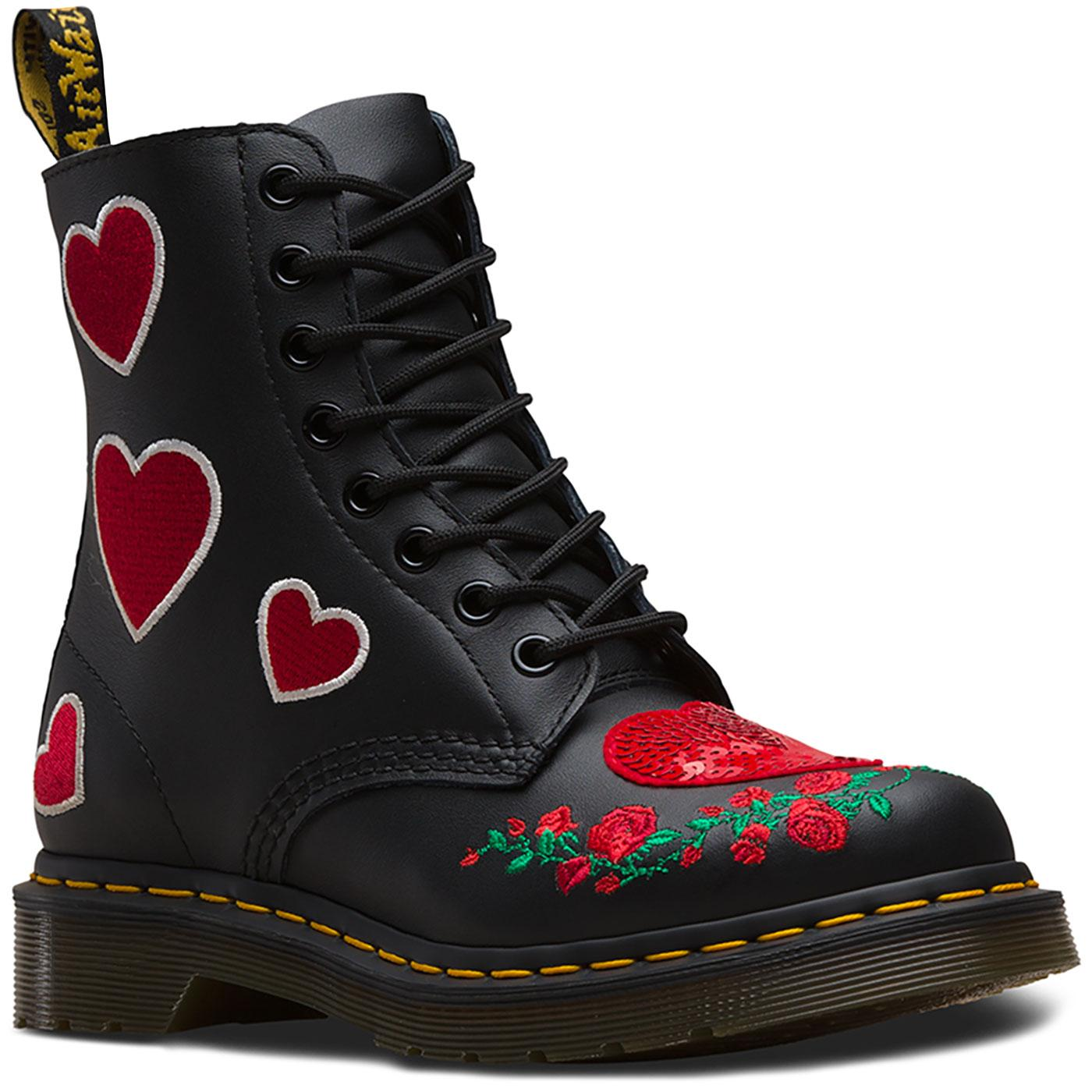 Pascal Sequin Hearts DR MARTENS 1460 Heart Boots