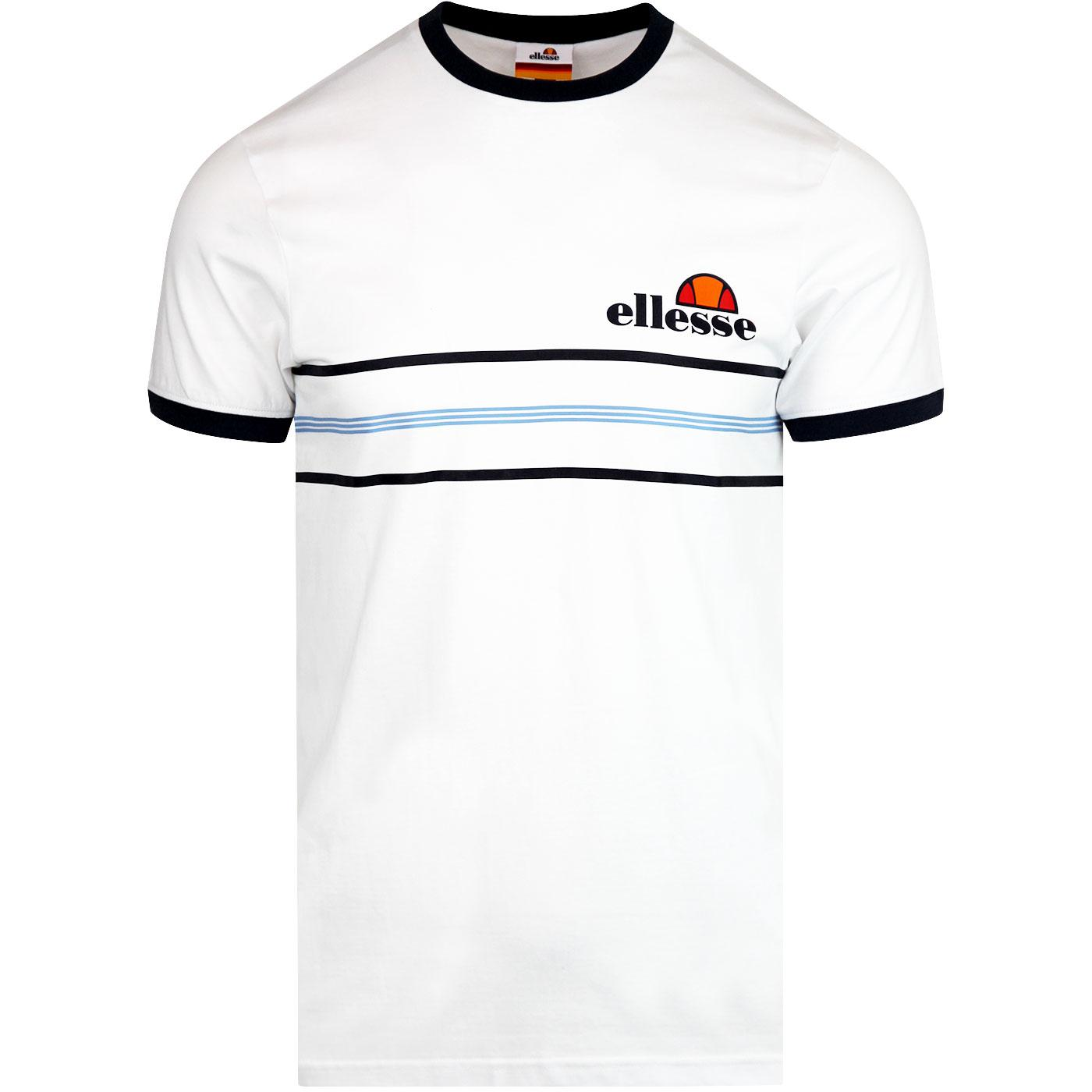 Gentario ELLESSE Retro Striped Contrast Tee WHITE