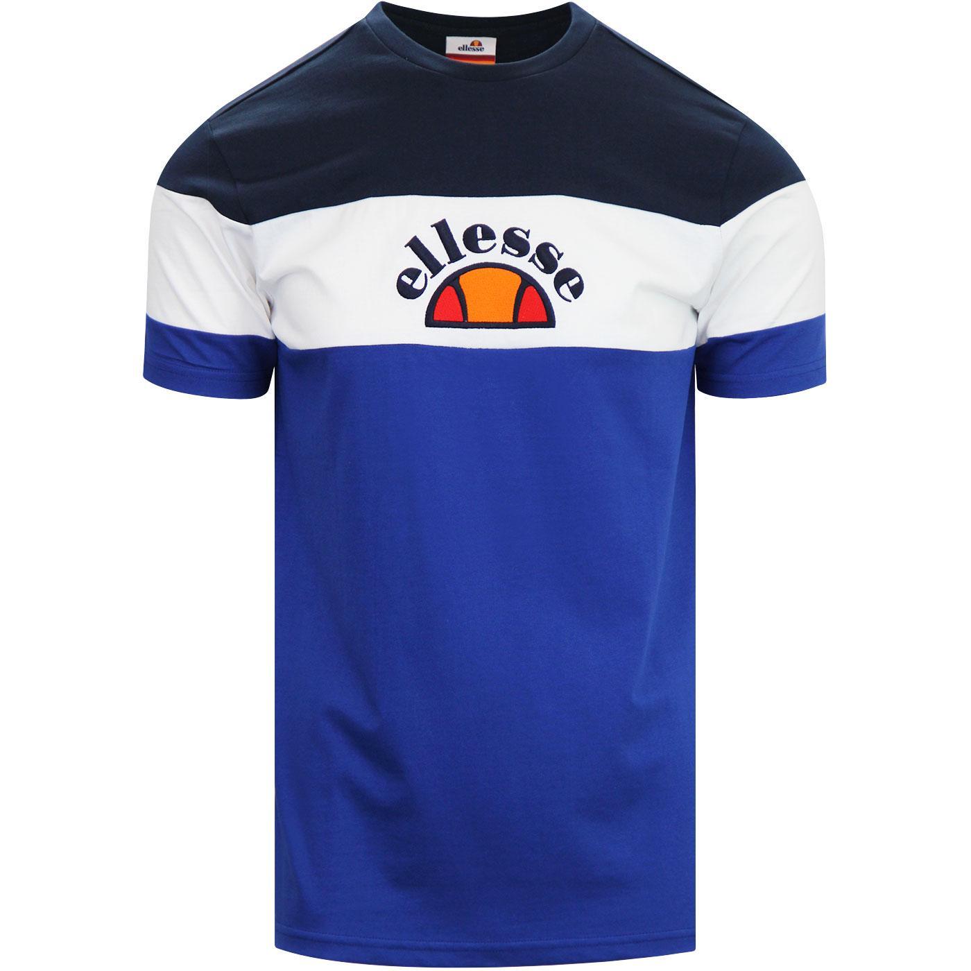 Juby ELLESSE Retro 80s Cut & Sew Panel T-Shirt Bl