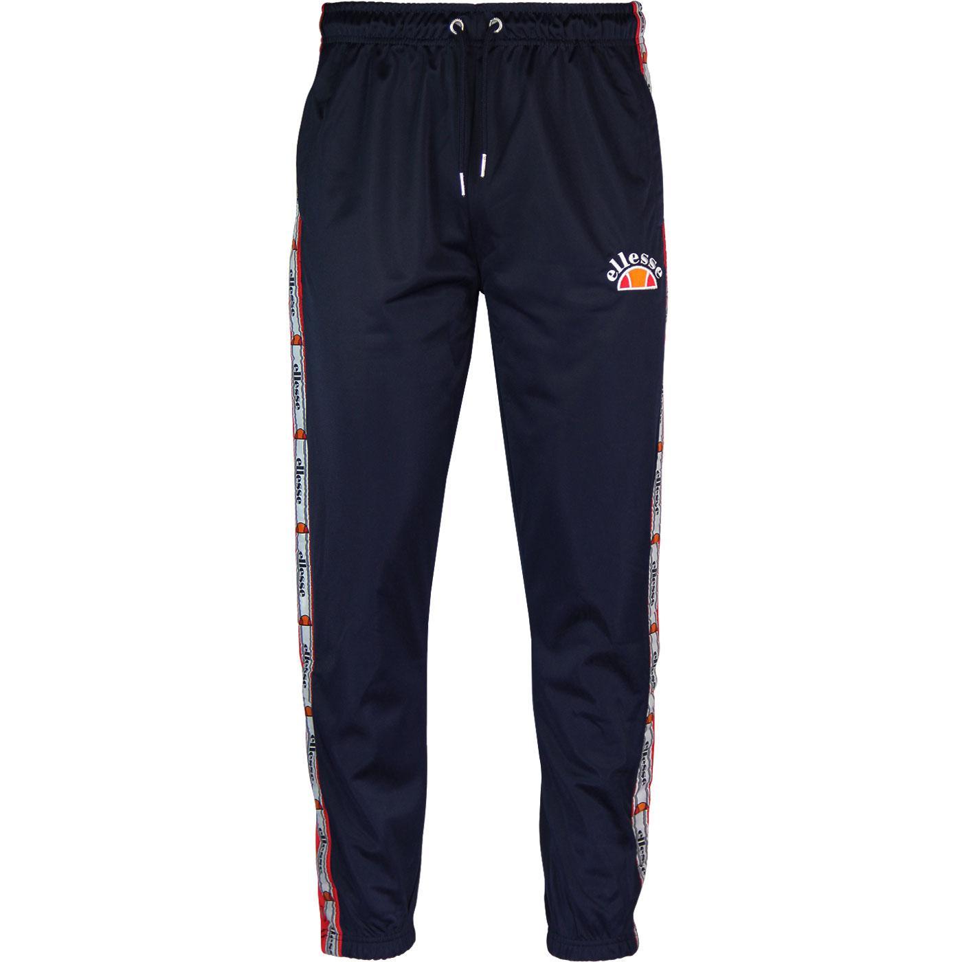 Prezza ELLESSE Retro 80s Taped Popper Pants (Navy)
