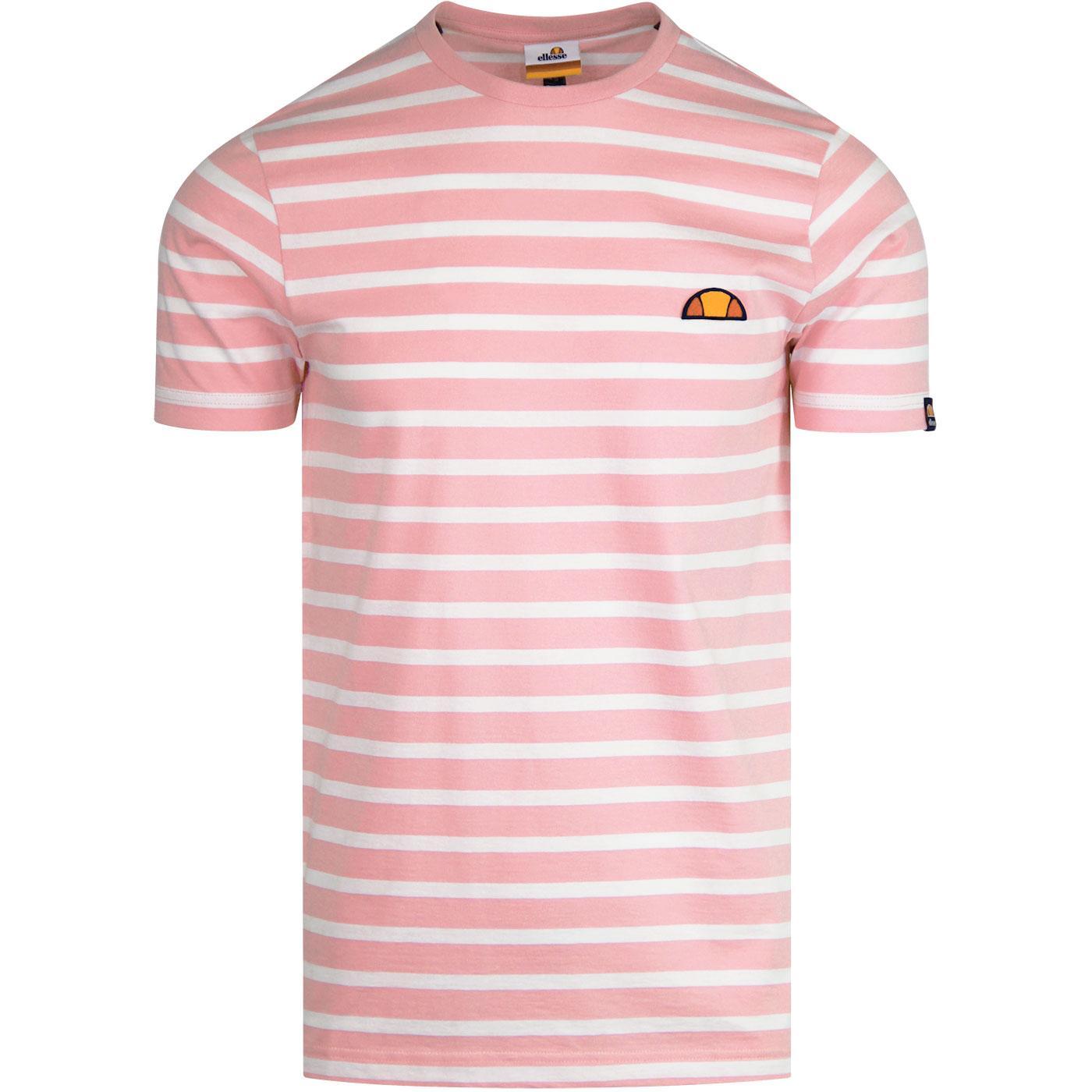 Sailio ELLESSE Mens Retro Breton Stripe T-Shirt LP