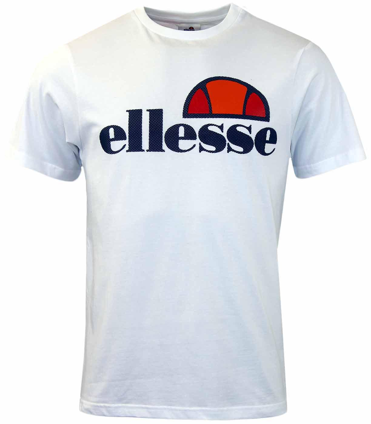 Prado Perforated ELLESSE Retro 80s Logo T-Shirt W