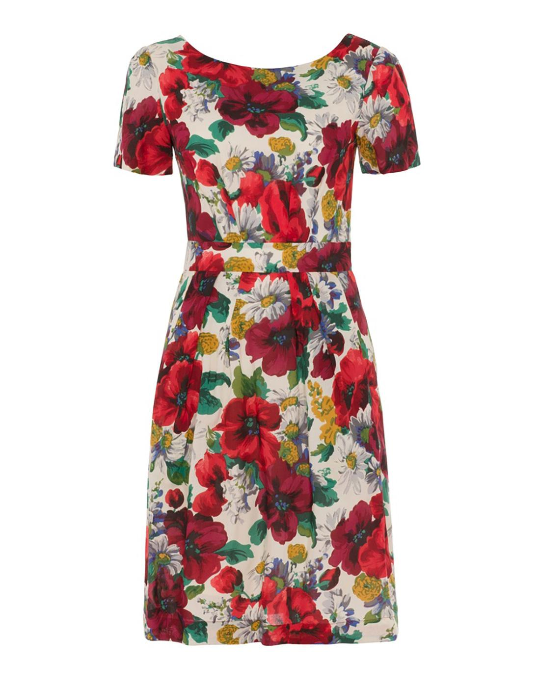Maggie EMILY AND FIN Retro 50s Poppy Print Dress