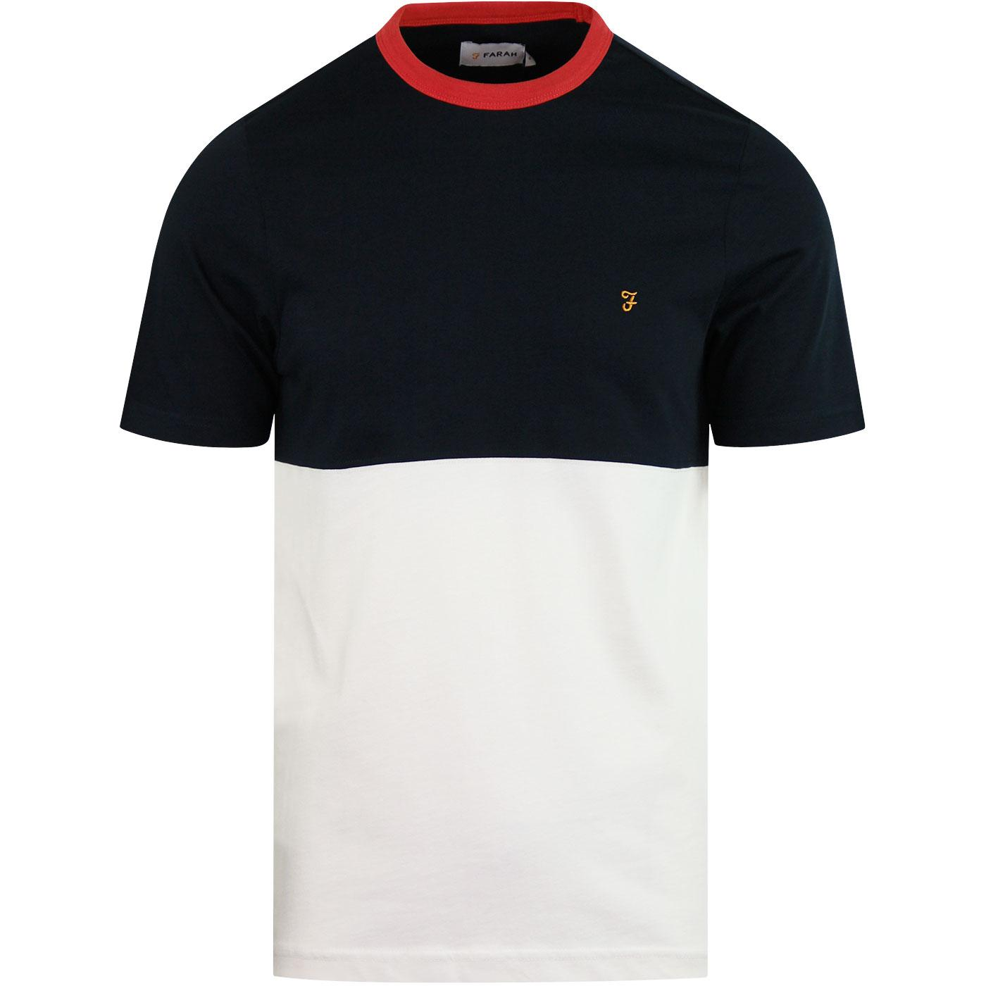 Ewood FARAH Retro Contrast Colour Panel Tee (TN)