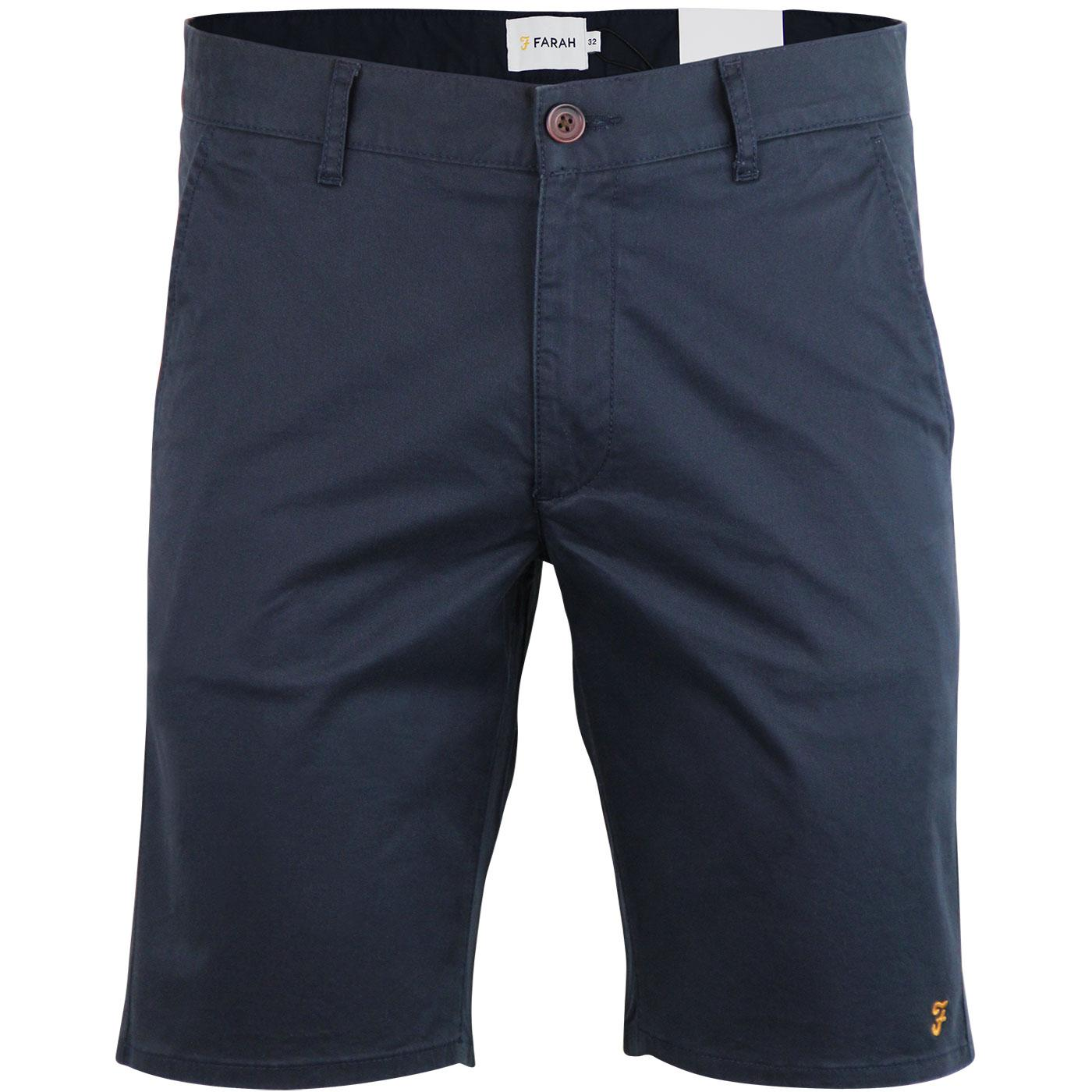 Hawk FARAH Retro Cotton Twill Chino Shorts (Navy)
