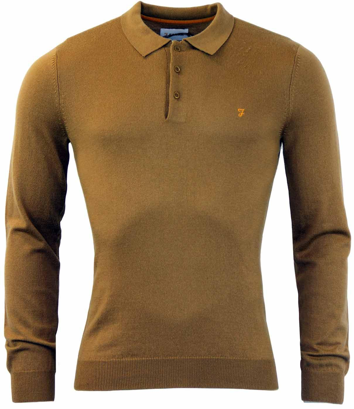 The Affery FARAH VINTAGE Retro Mod Merino Polo (C)