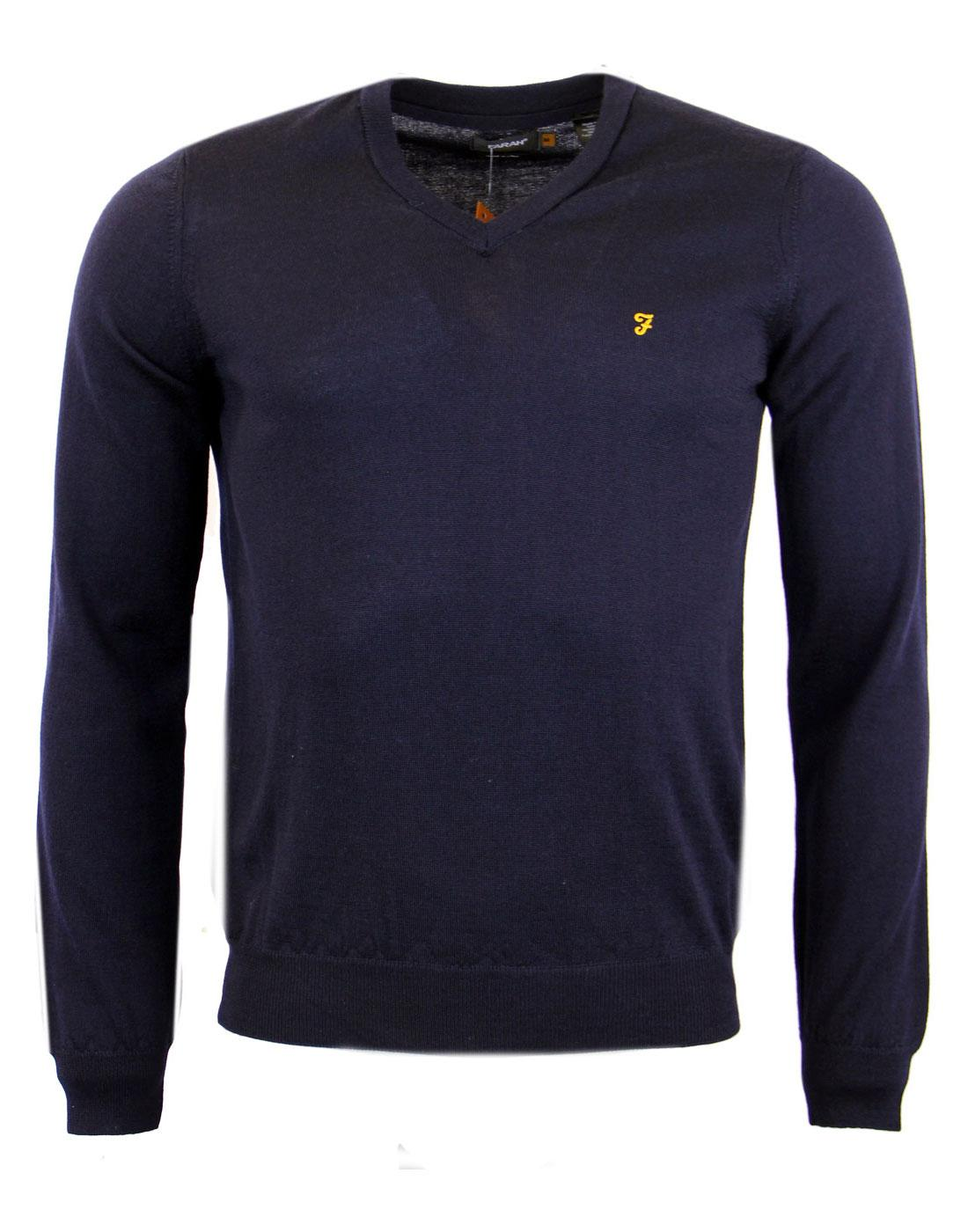 Devlin FARAH Retro Merino V Neck Sweater  (N)