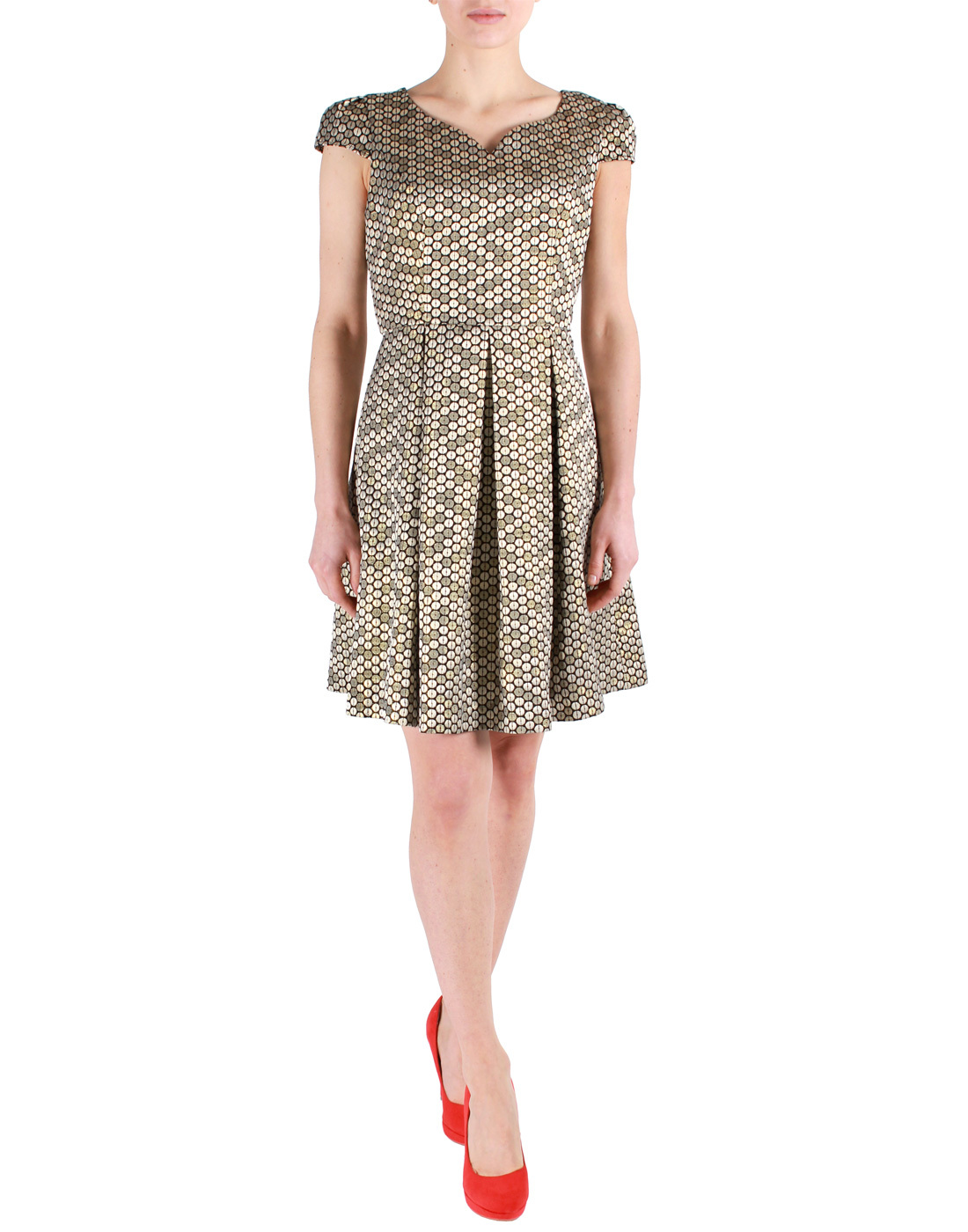 Cora FEVER Retro Sixties Mod Metallic Prom Dress
