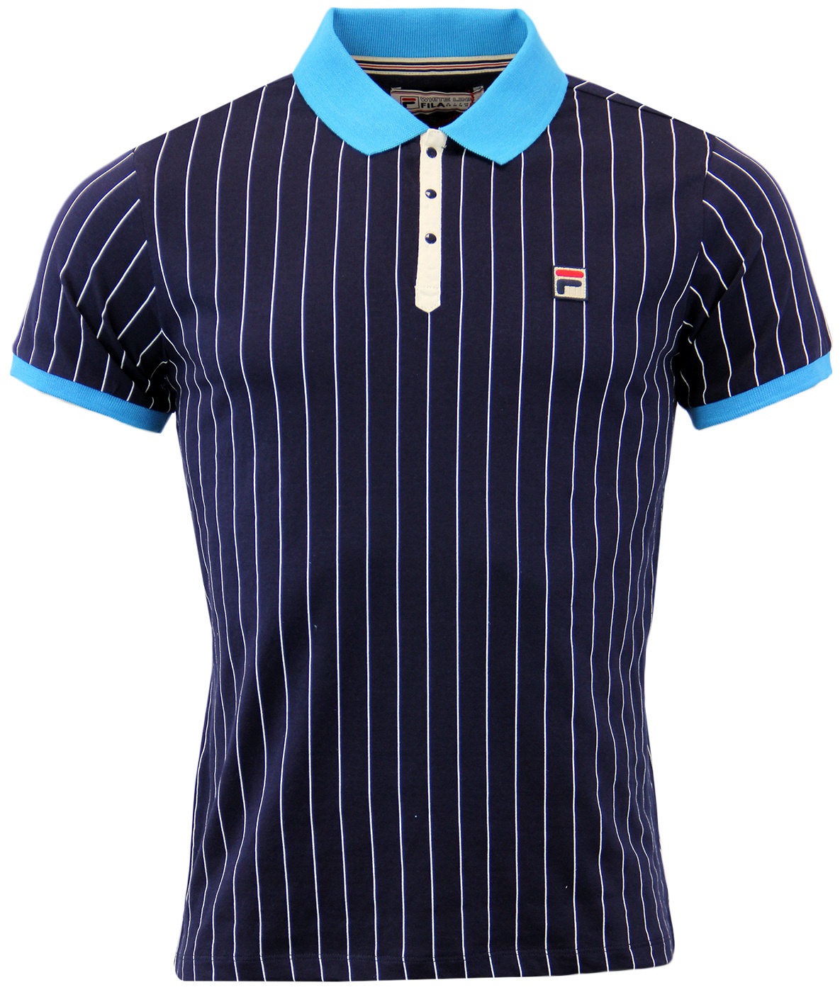 BB1 Borg Polo FILA VINTAGE Retro 1970s Polo Top P