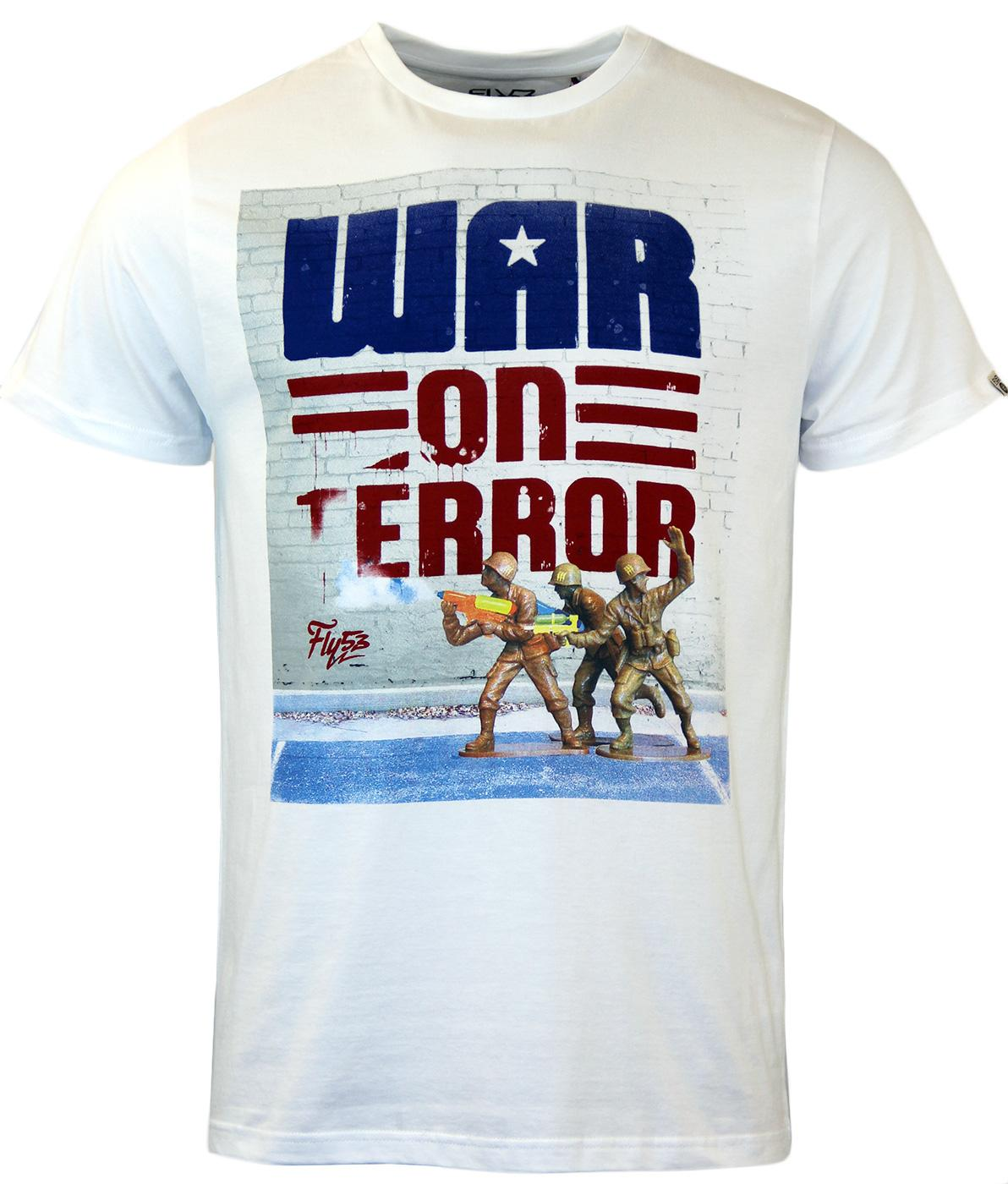 FLY53 Retro War On Terror Print T-Shirt