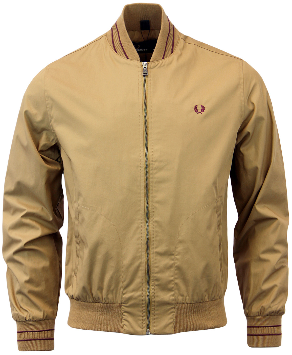 FRED PERRY Retro Tramline Tipped Bomber Jacket WR