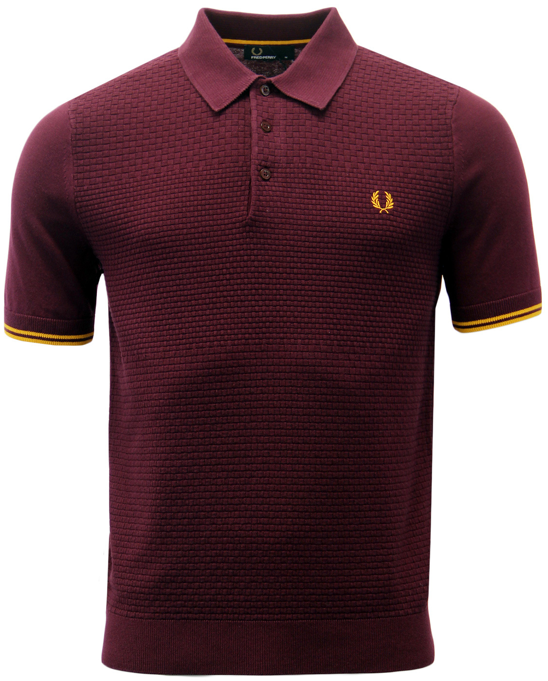 FRED PERRY Men's Retro Mod Knitted Polo Shirt M
