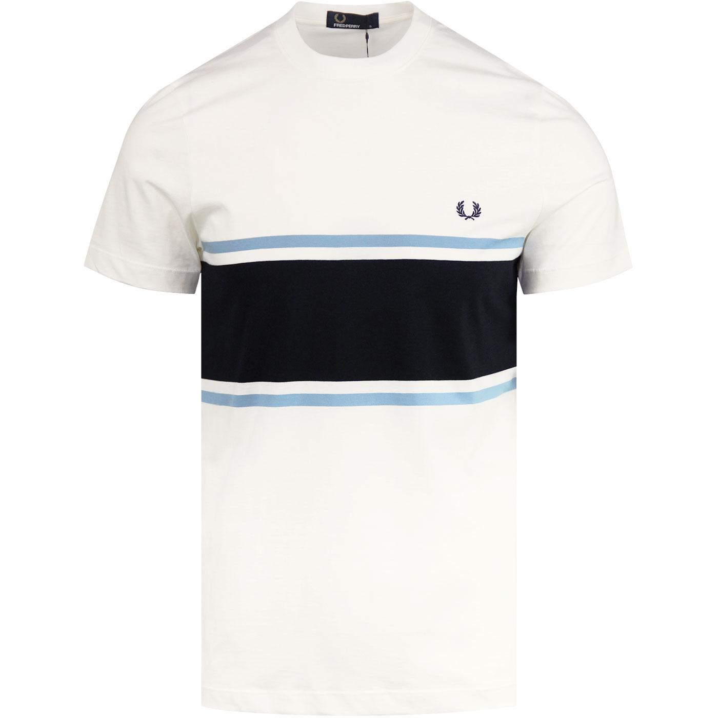 FRED PERRY Retro Mod Colour Block Crew Tee (SW)