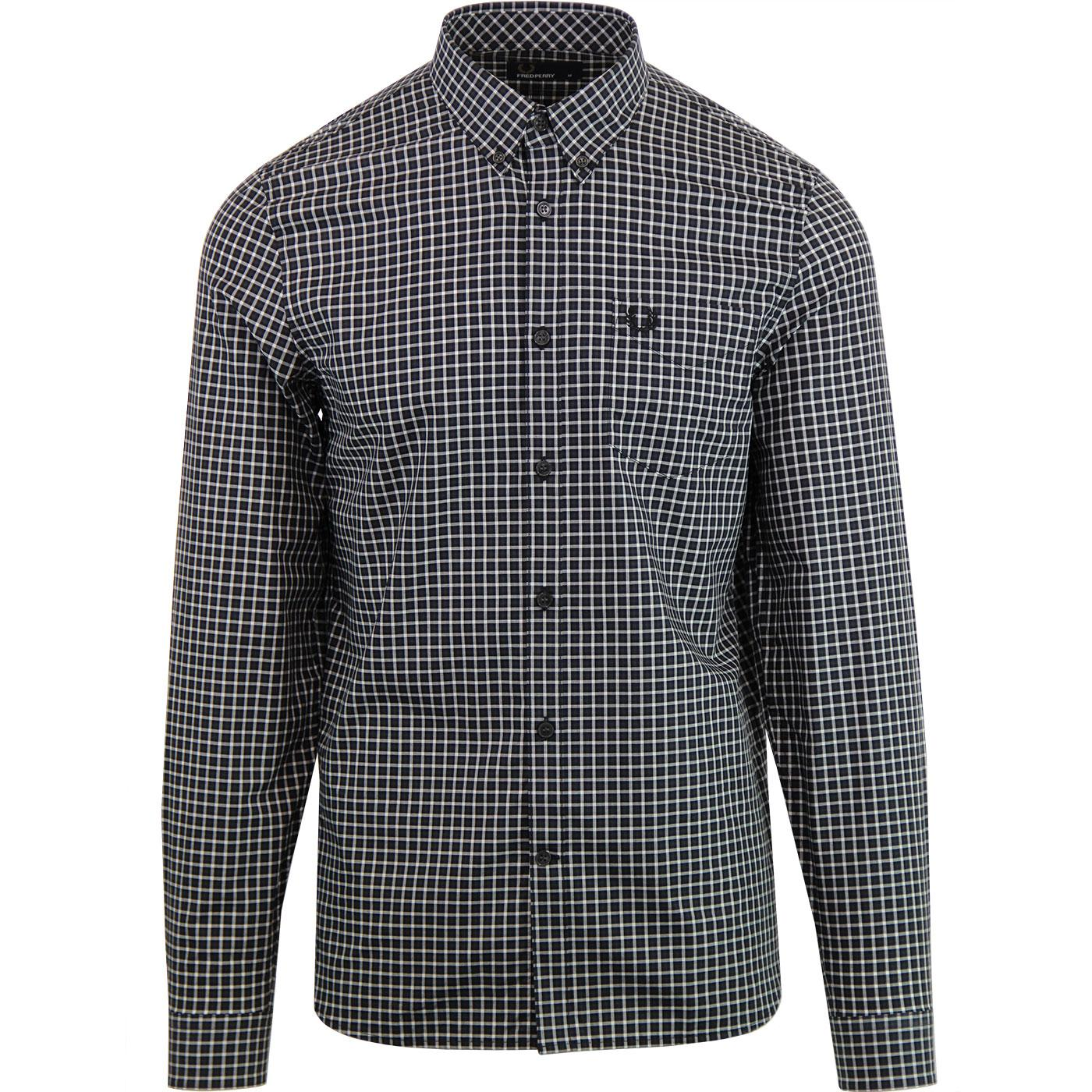 Fred Perry Mens Three-Colour Gingham Shirt