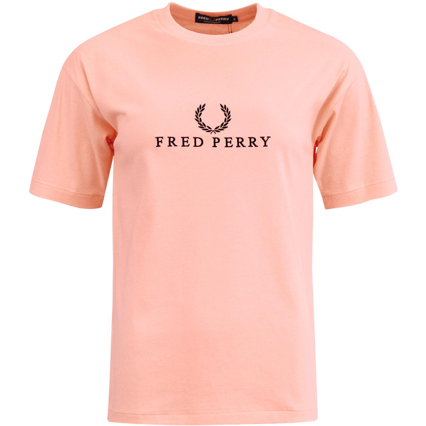 FRED PERRY Women's Retro Embroidered Logo T-Shirt