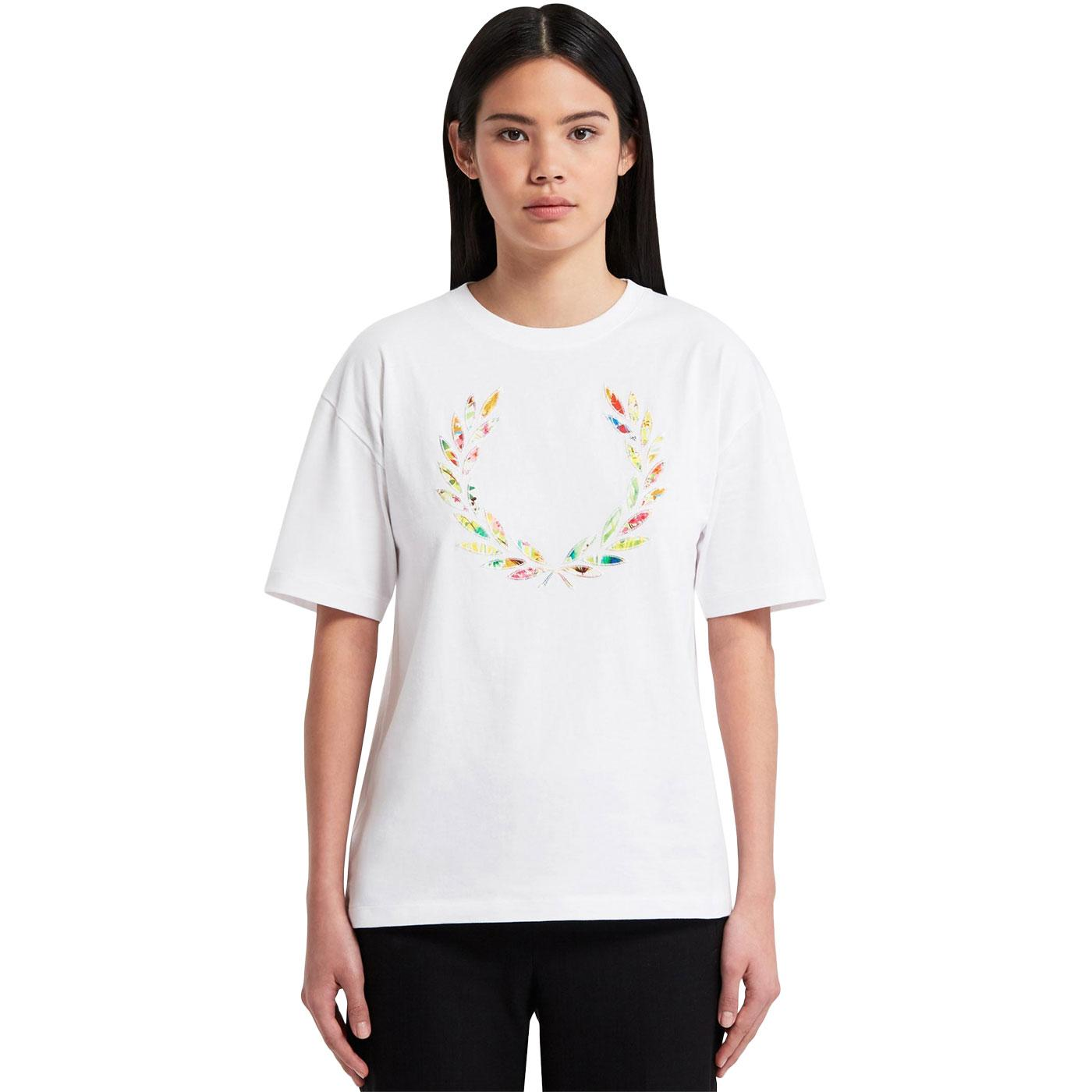 FRED PERRY Women's Liberty Print Applique Tee W