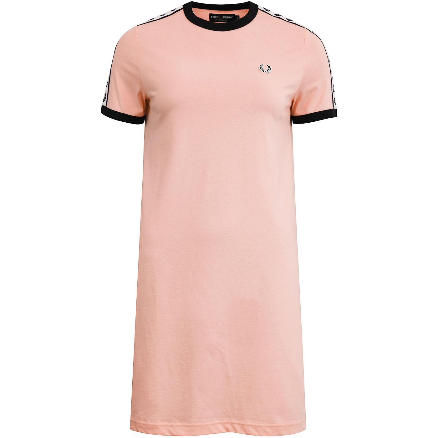 FRED PERRY Women's Taped Sleeve Ringer Tee Dress
