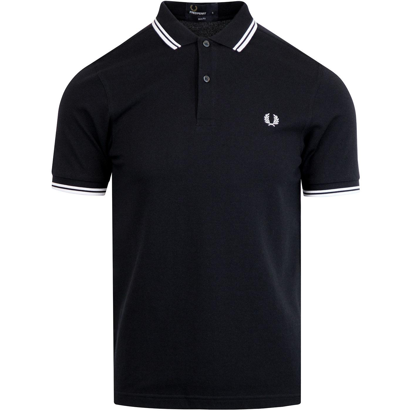 FRED PERRY M3600 Mod Twin Tipped Polo Shirt N/W