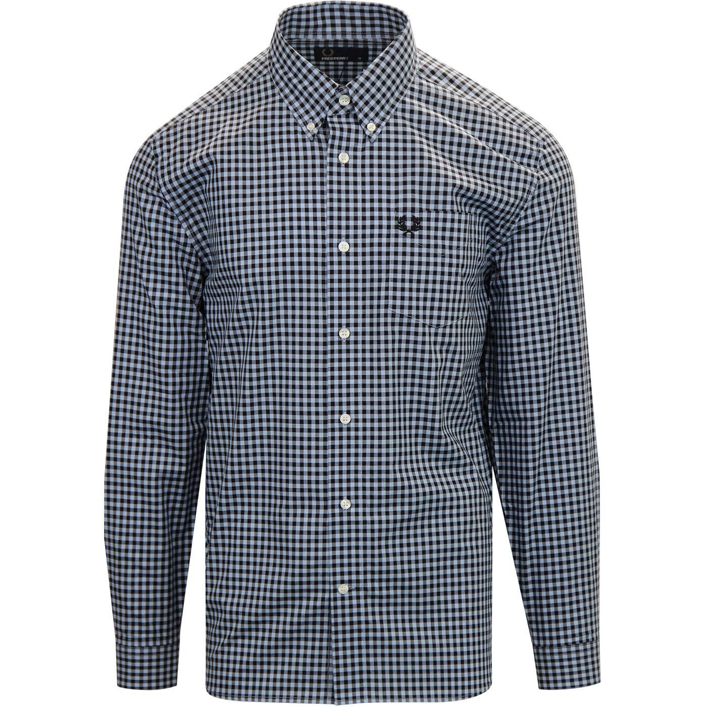 FRED PERRY Retro Mod Two Colour Gingham Shirt