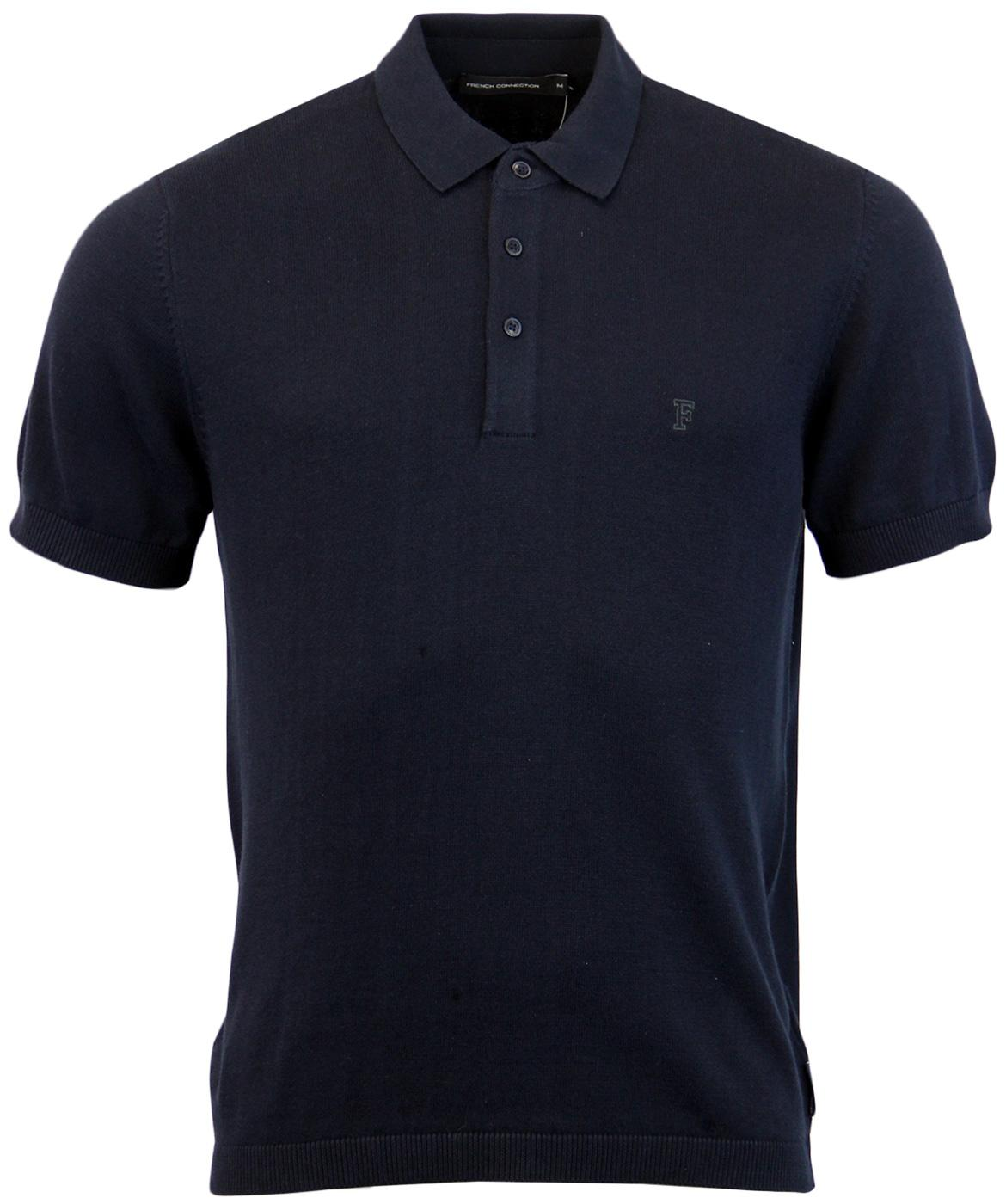 FRENCH CONNECTION Retro Mod Cotton Knitted Polo