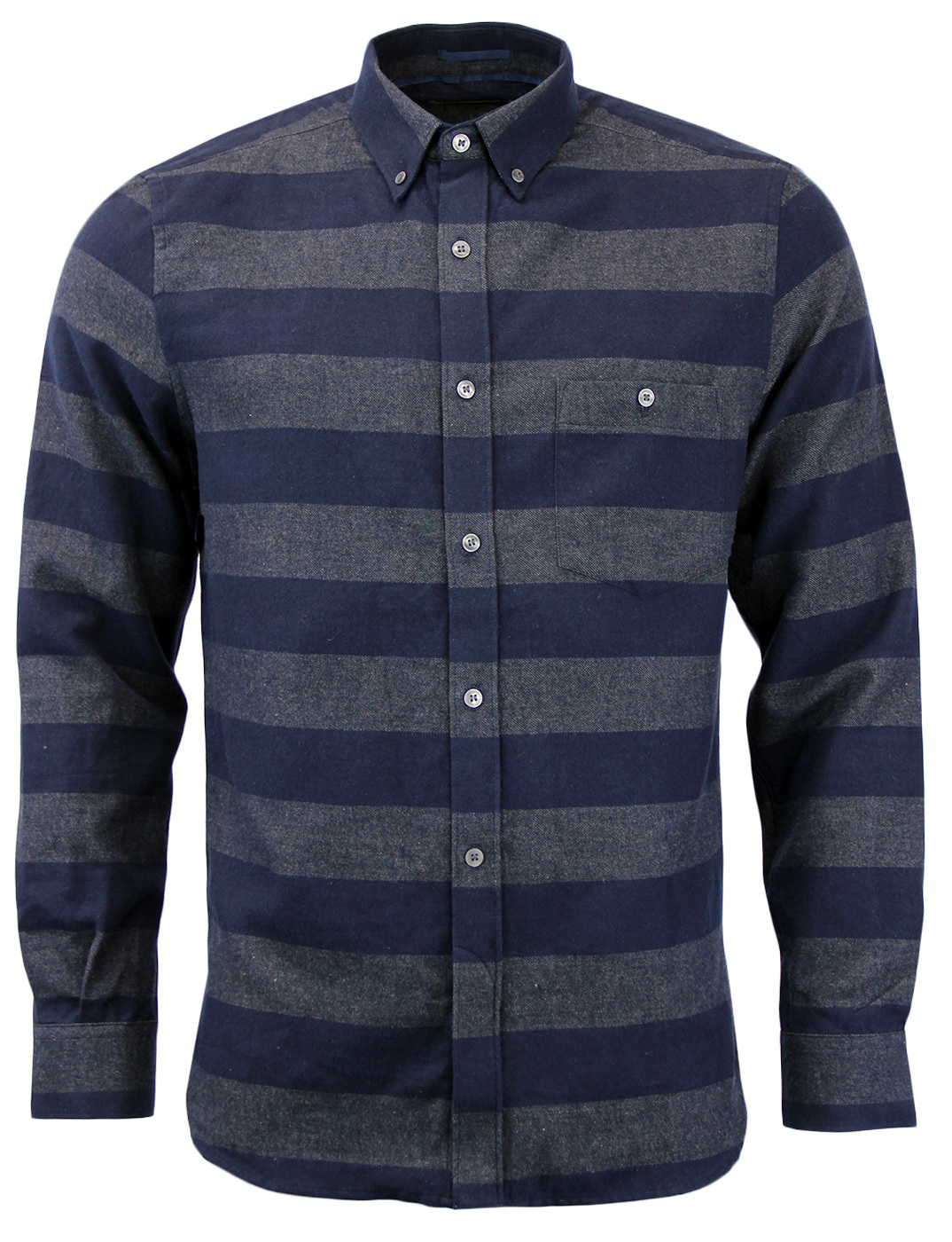 FRENCH CONNECTION Pop Flannel Stripe Retro Shirt