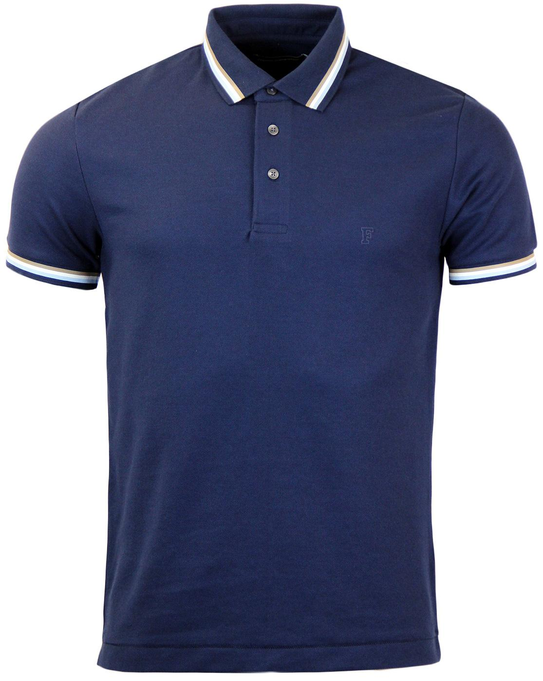 FRENCH CONNECTION Retro Indie Tipped Tennis Polo