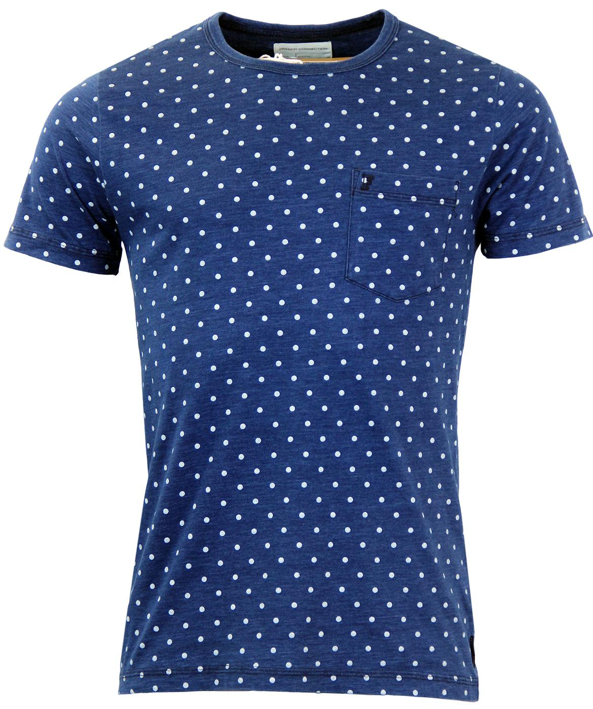 FRENCH CONNECTION Retro World Wide Dot Pocket Tee