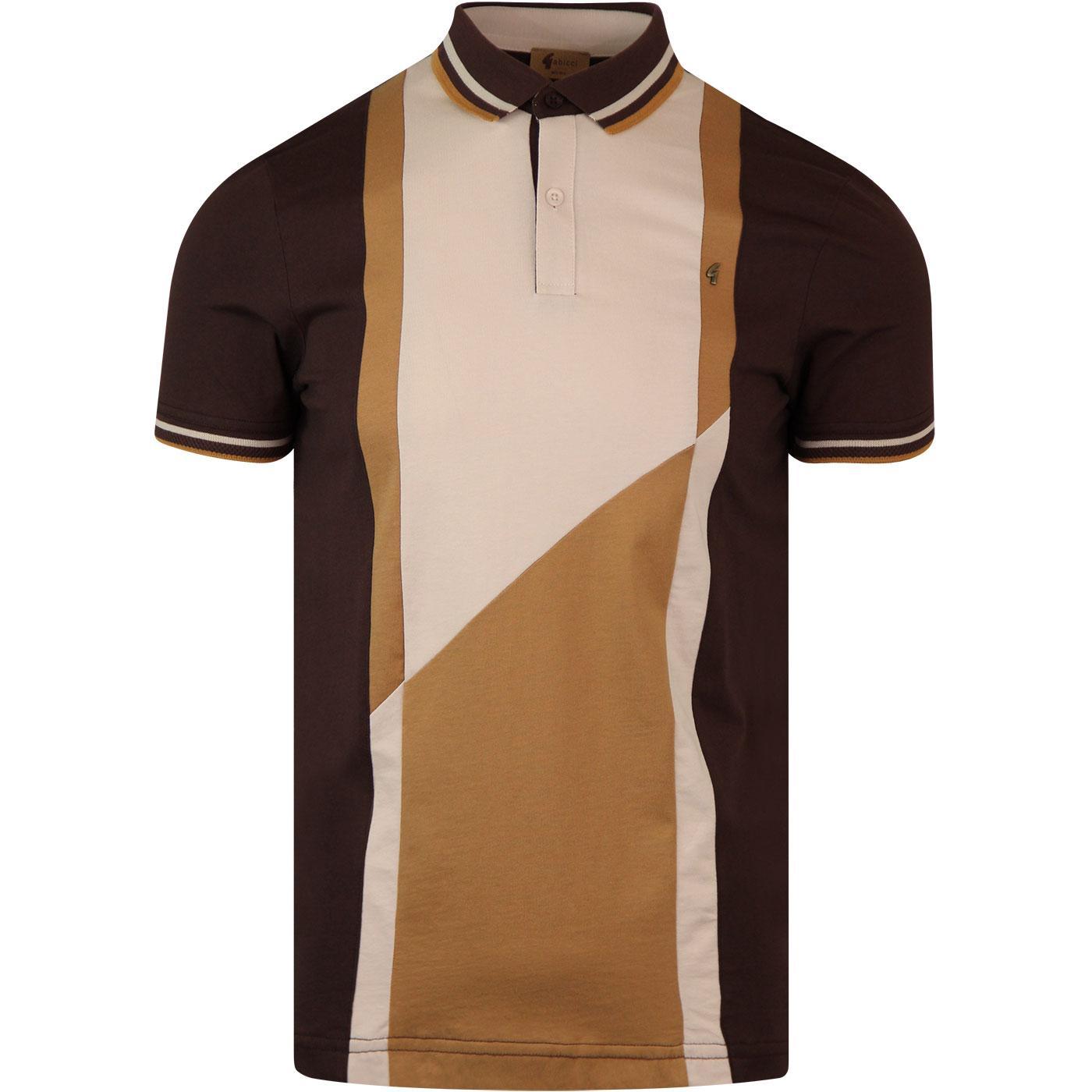 Brace GABICCI VINTAGE Retro 70s Mod Polo Shirt