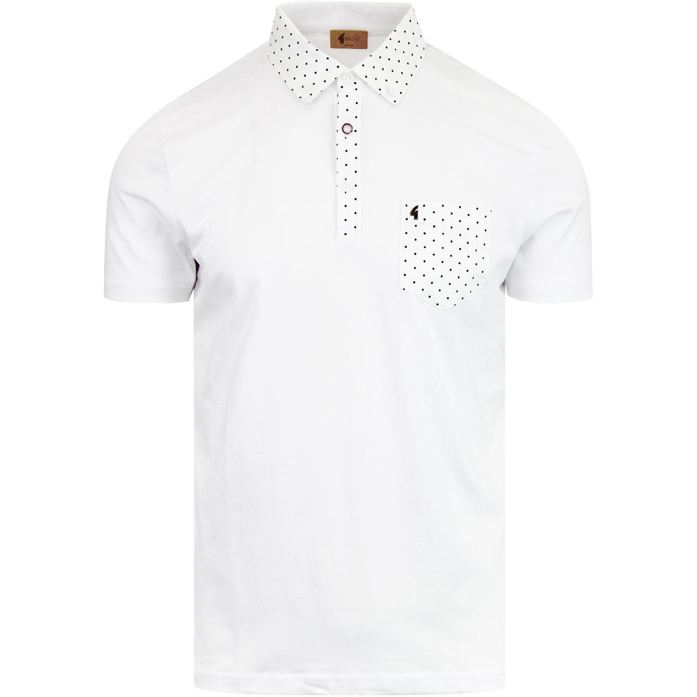 Kemble GABICCI VINTAGE Mod Polka Dot Shirting Polo