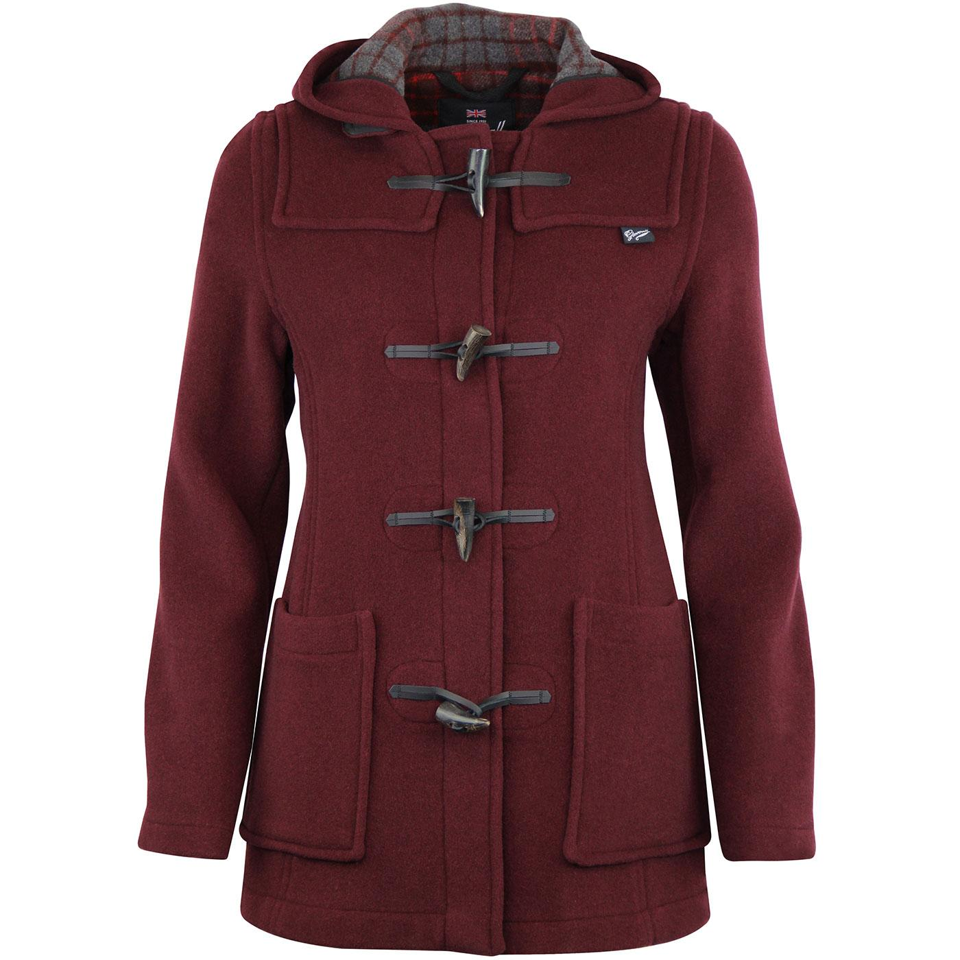 GLOVERALL Women's Short Slim fitted Duffle Coat Bu