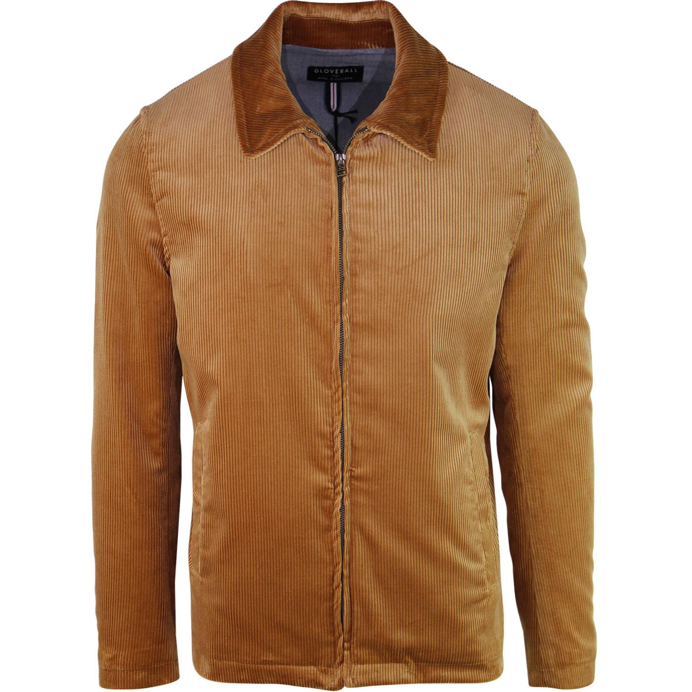 Musso GLOVERALL Retro Mod Cord Harrington (Camel)