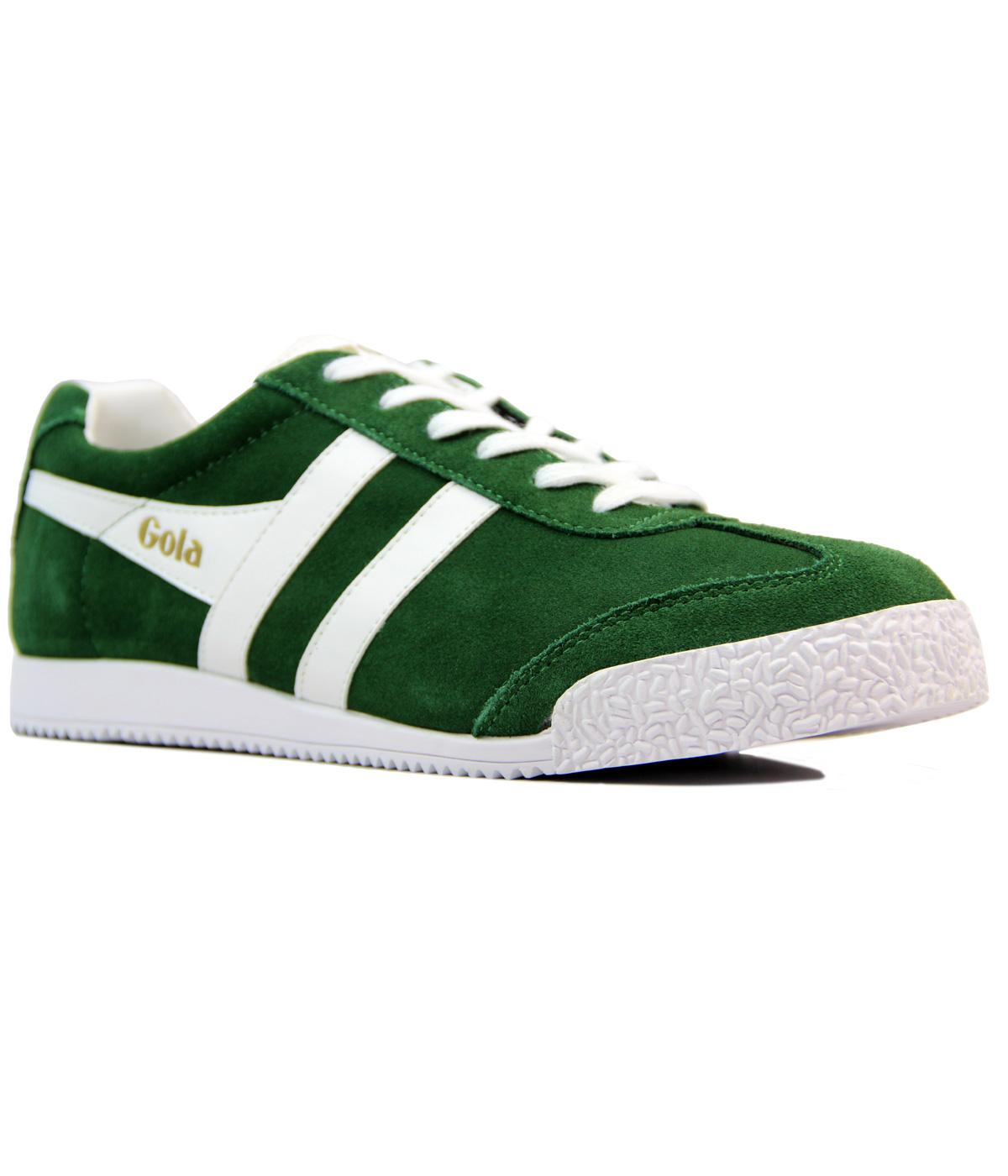 GOLA Harrier Premium Suede Retro Trainers GREEN