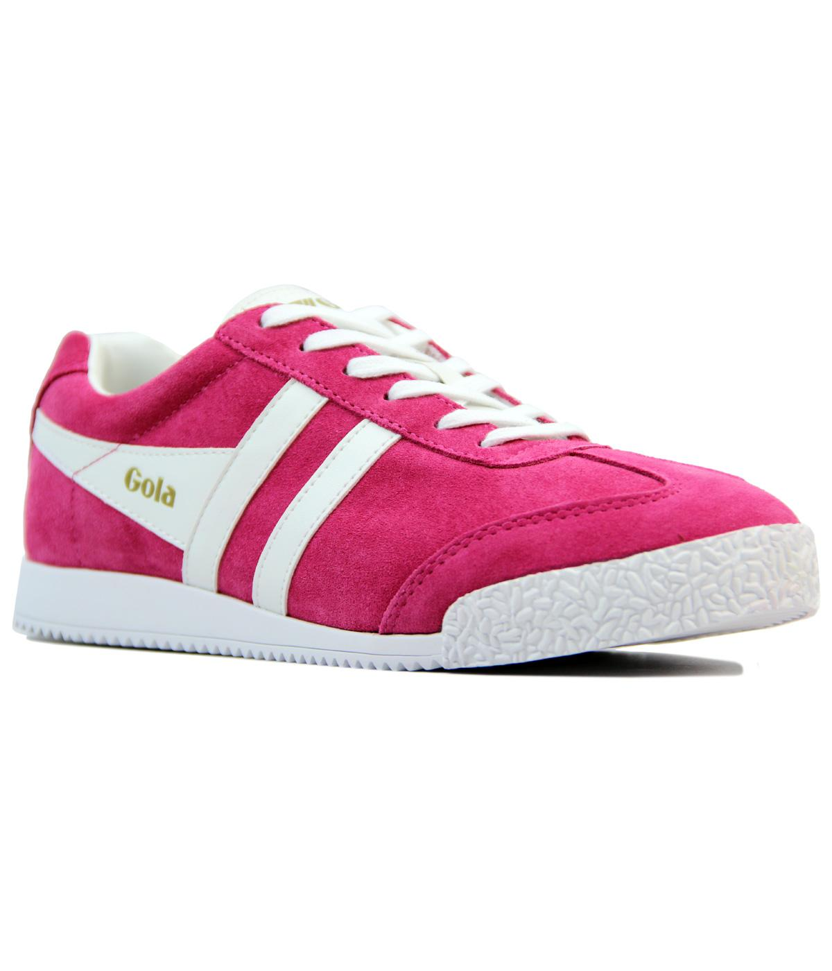 GOLA Harrier Womens Retro Suede Trainers FUCHSIA