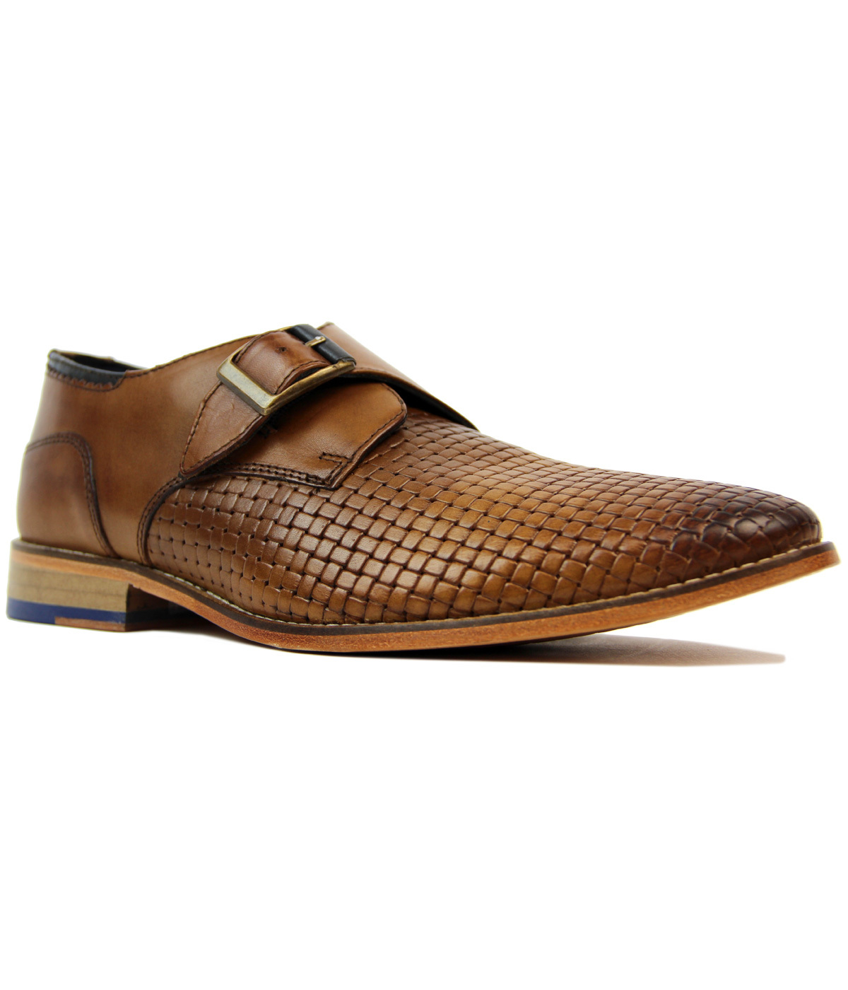 Helms Goodwin Smith Retro Mod Monk Strap Shoes