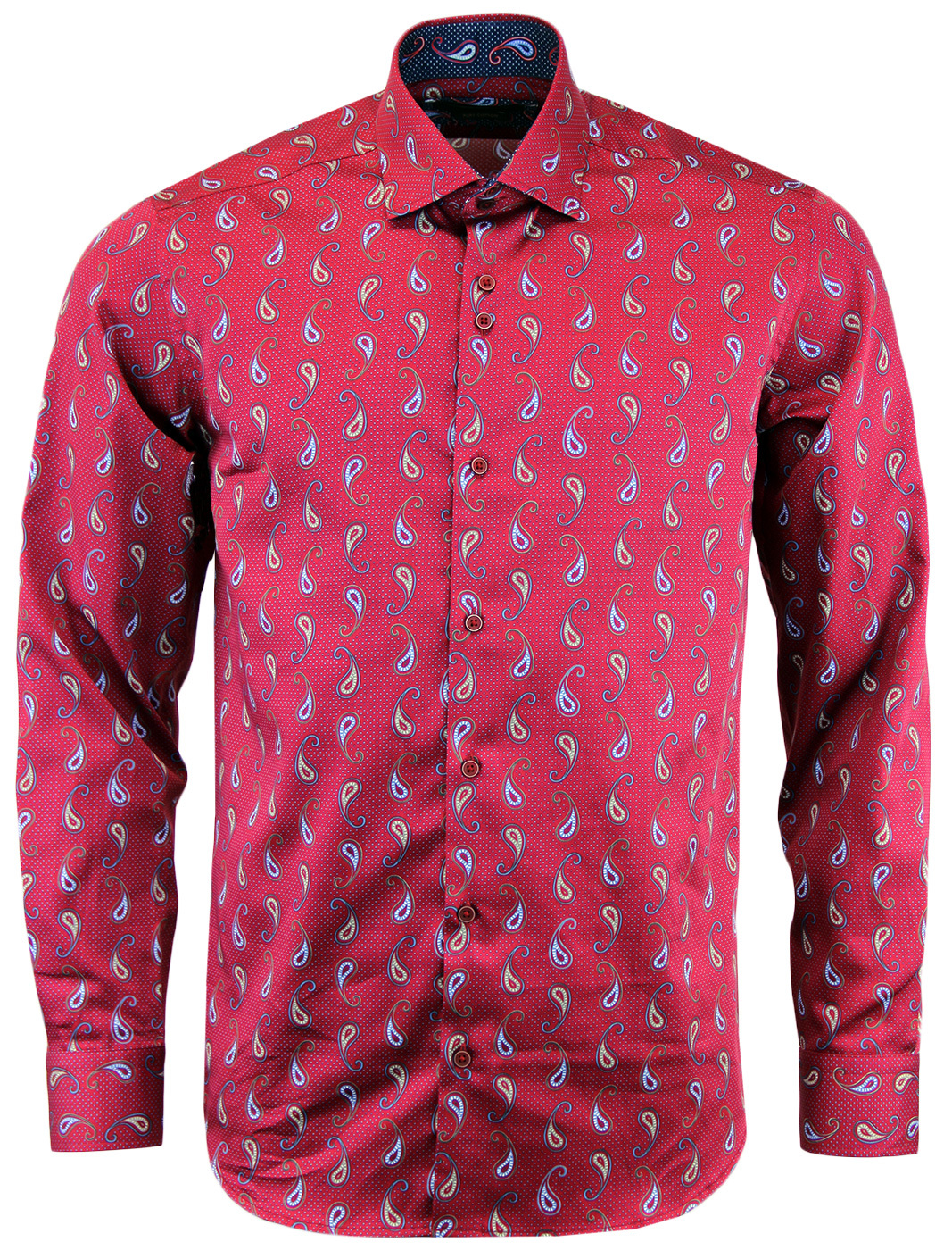 GUIDE LONDON 60s Mod Paisley Micro Square Shirt W