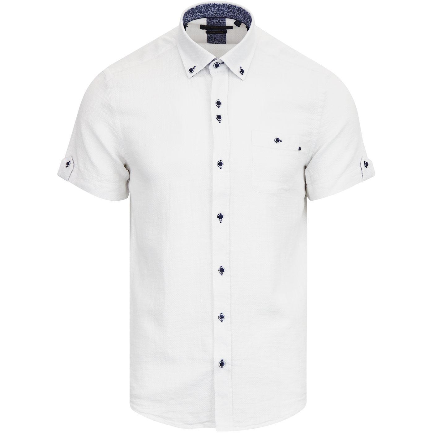 GUIDE LONDON Retro Mod Paisley Collar S/S Shirt W