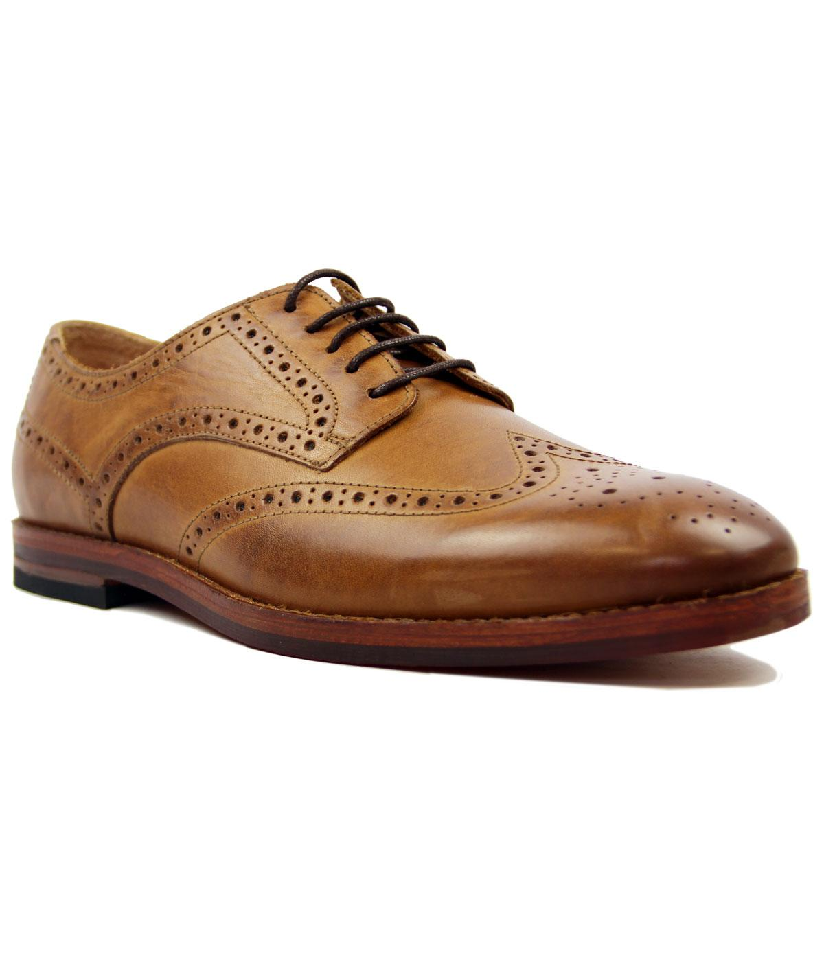 Talbot H by HUDSON Mod Calf Tan Brogues