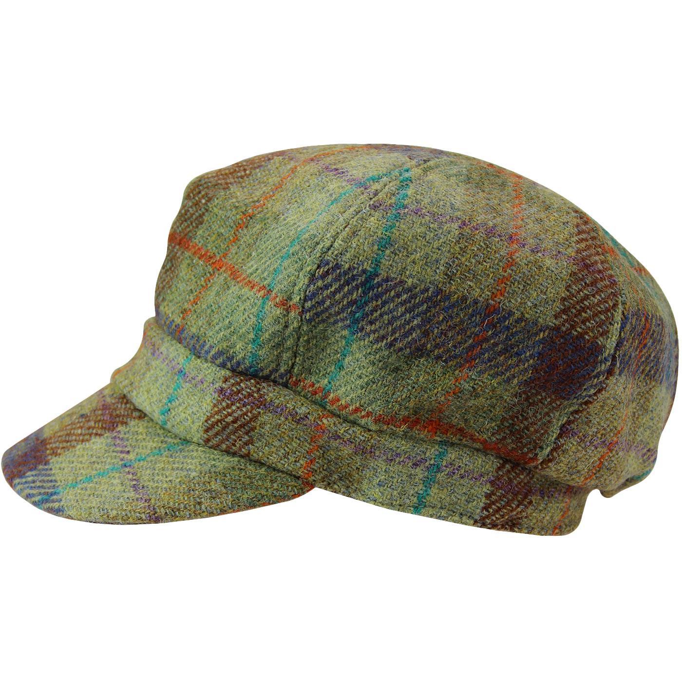 FAILSWORTH Women's Mod Harris Tweed Bakerboy Cap G
