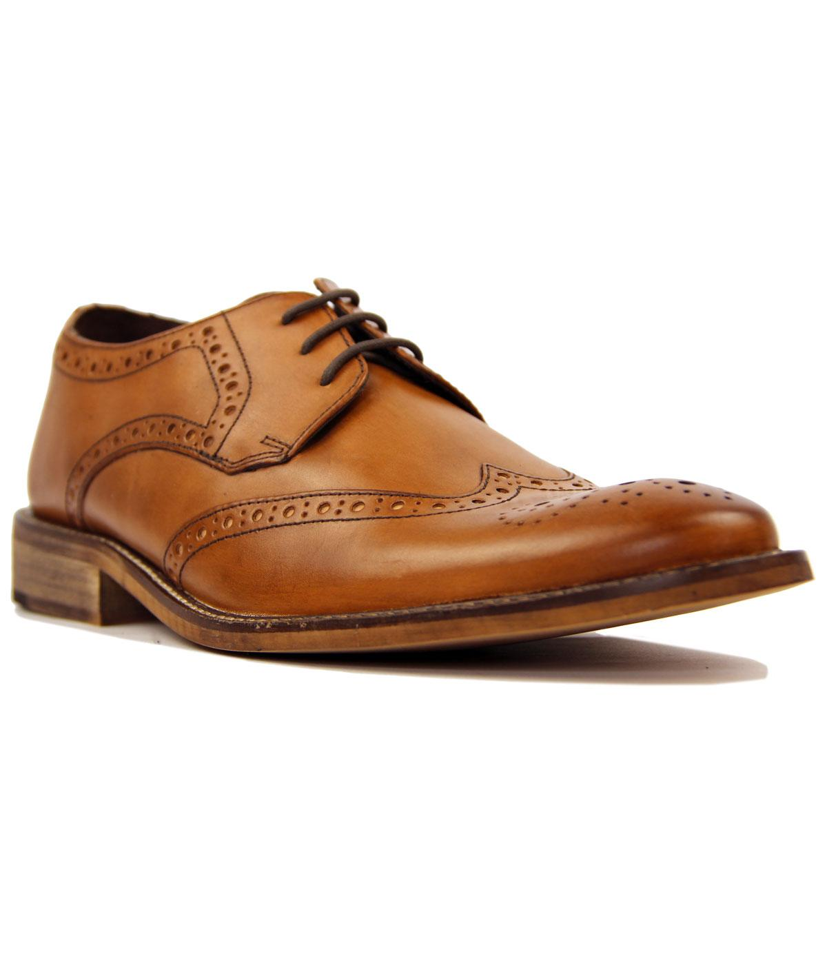 Pace IKON Retro Mod Punched Wingtip Brogue Shoes
