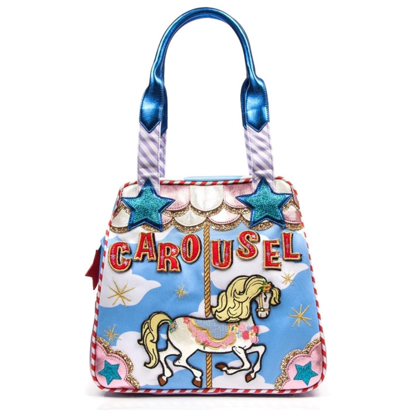 Round And Round IRREGULAR CHOICE Carousel Bag Blue