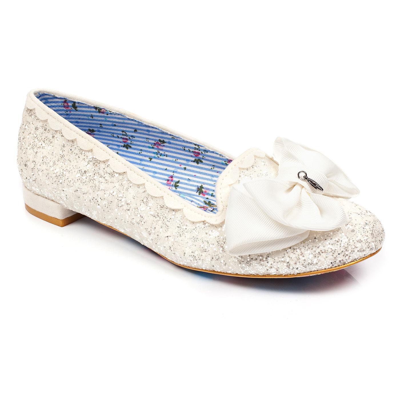 Sulu IRREGULAR CHOICE Vintage Glitter Bridal Flats