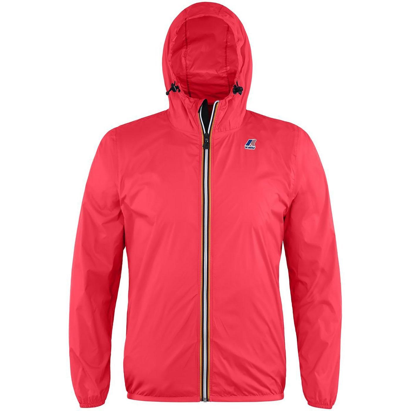 Claude K-WAY Men's Retro Pac-A-Mac Jacket (Red)