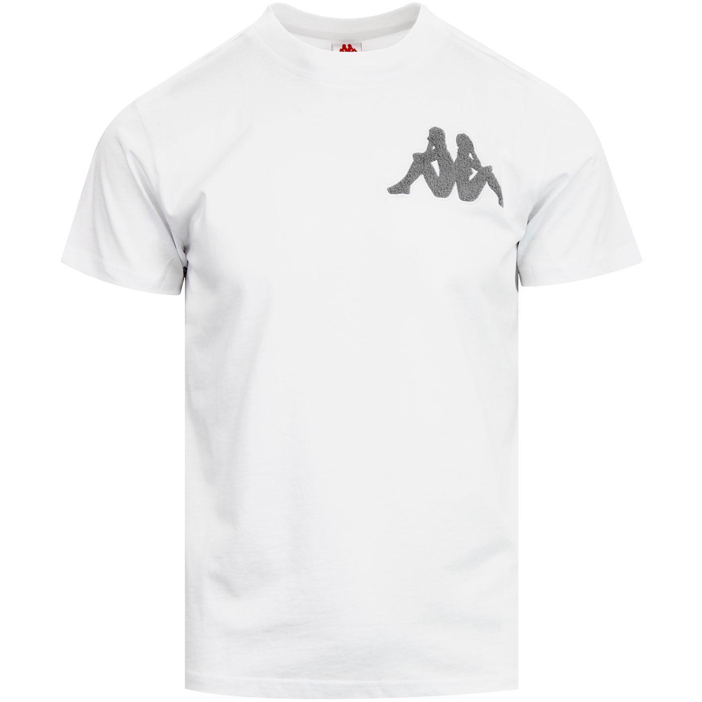 Batir KAPPA Retro Chenille Logo T-shirt WHITE