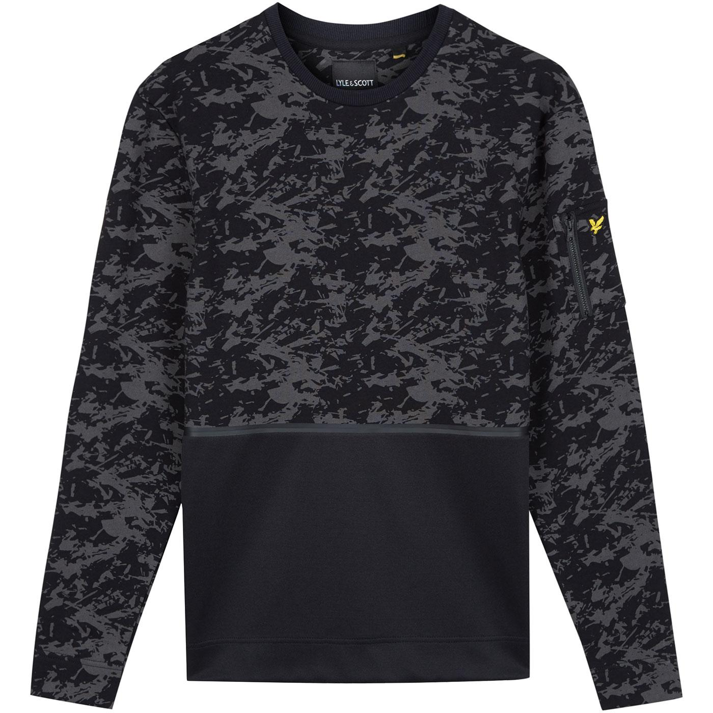 LYLE & SCOTT Casuals Camo Block Print Sweatshirt