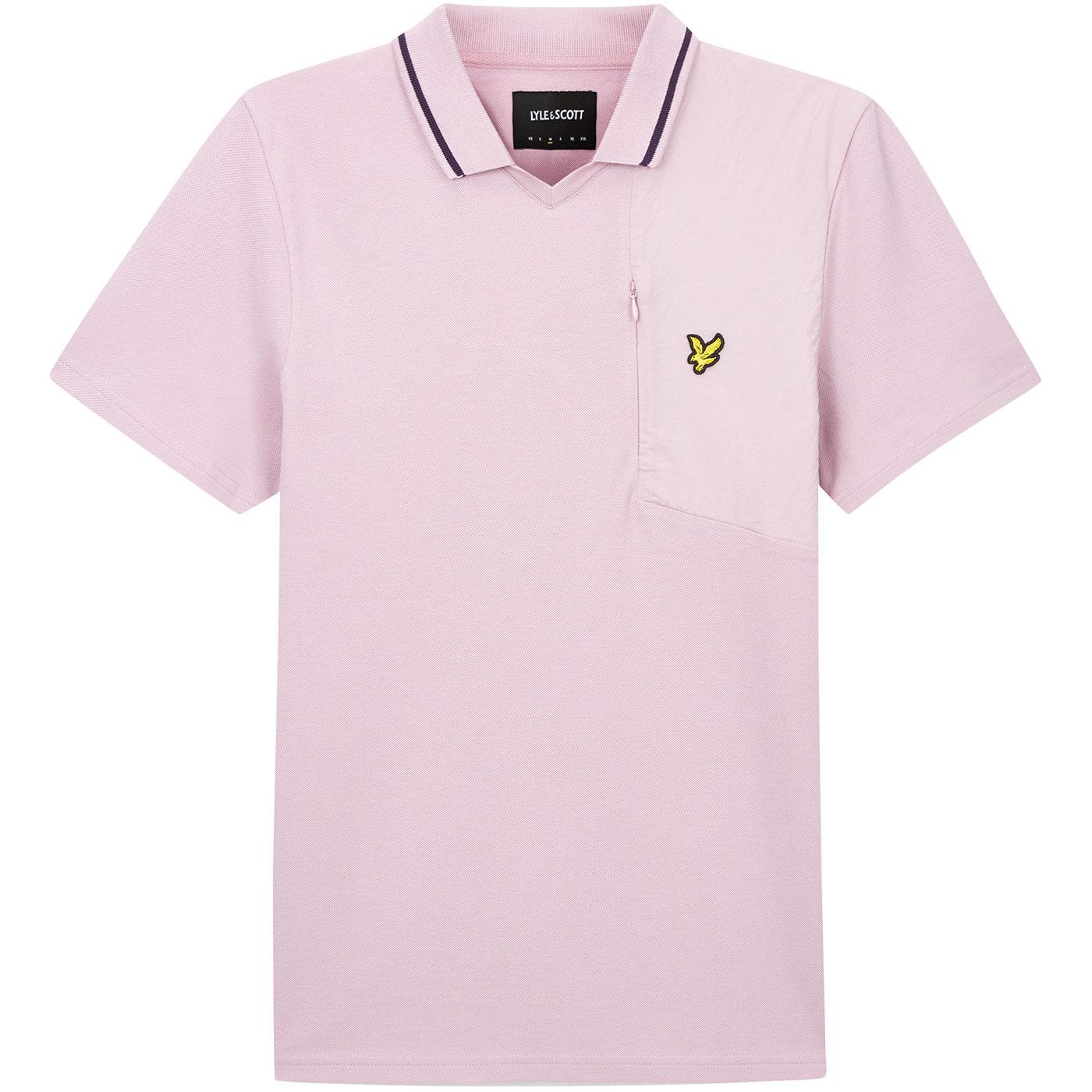 LYLE & SCOTT Retro 1970s Football Polo Shirt (LM)